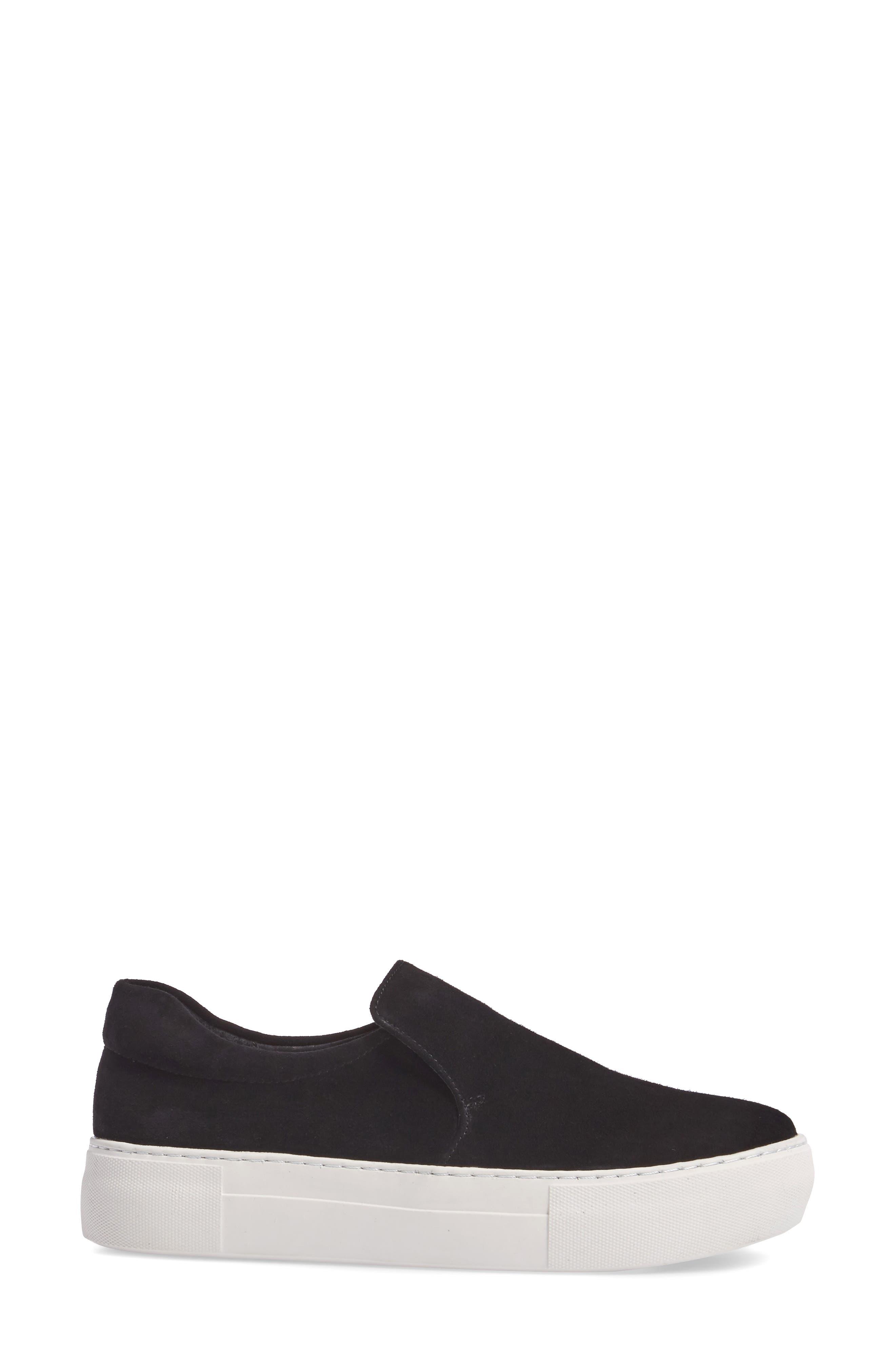 Acer Slip-On Sneaker,                             Alternate thumbnail 3, color,                             BLACK SUEDE