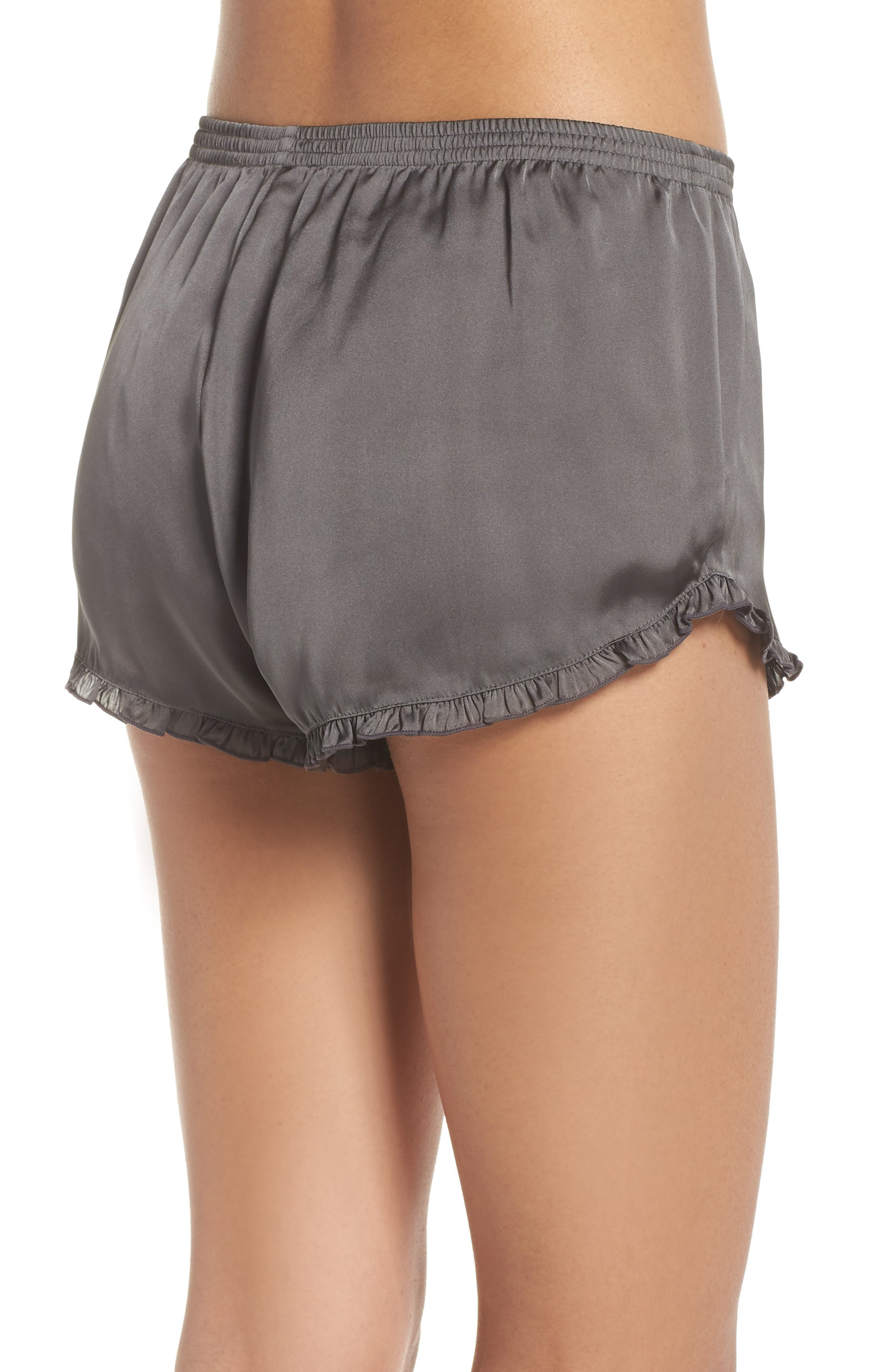 Satin Lounge Shorts,                             Alternate thumbnail 2, color,                             022