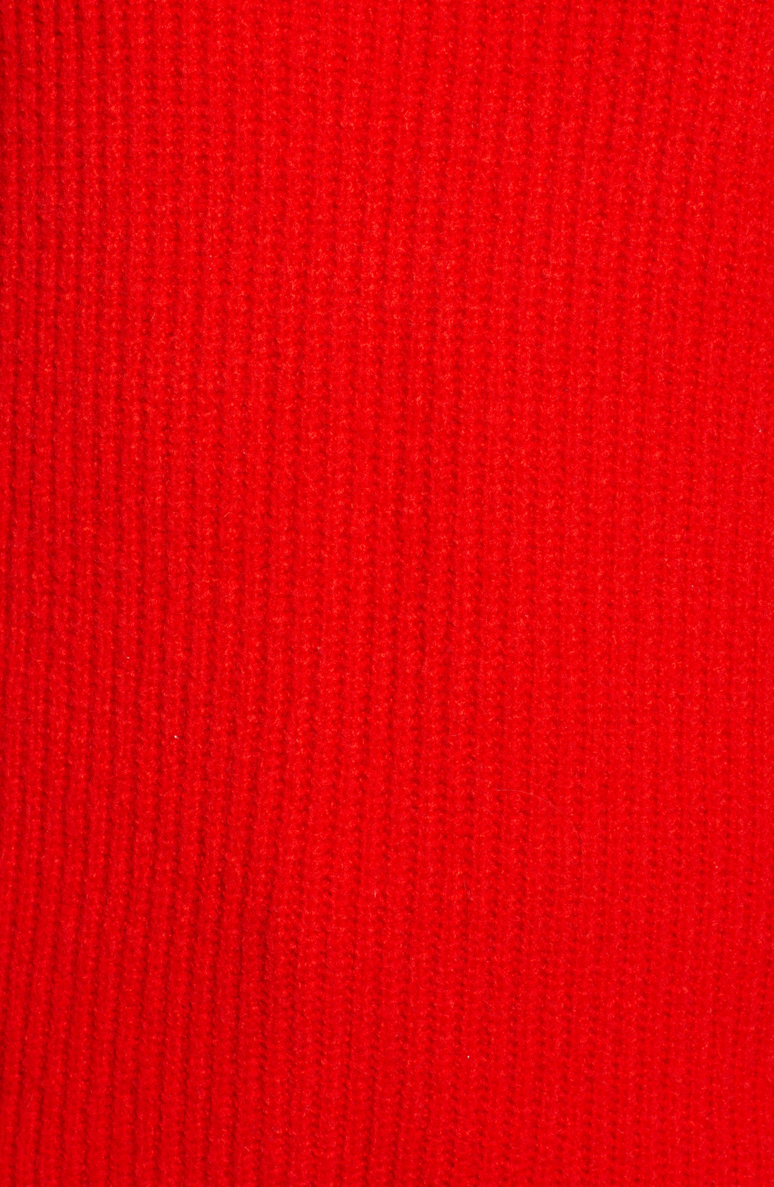 Rib Funnel Neck Sweater,                             Alternate thumbnail 6, color,                             610