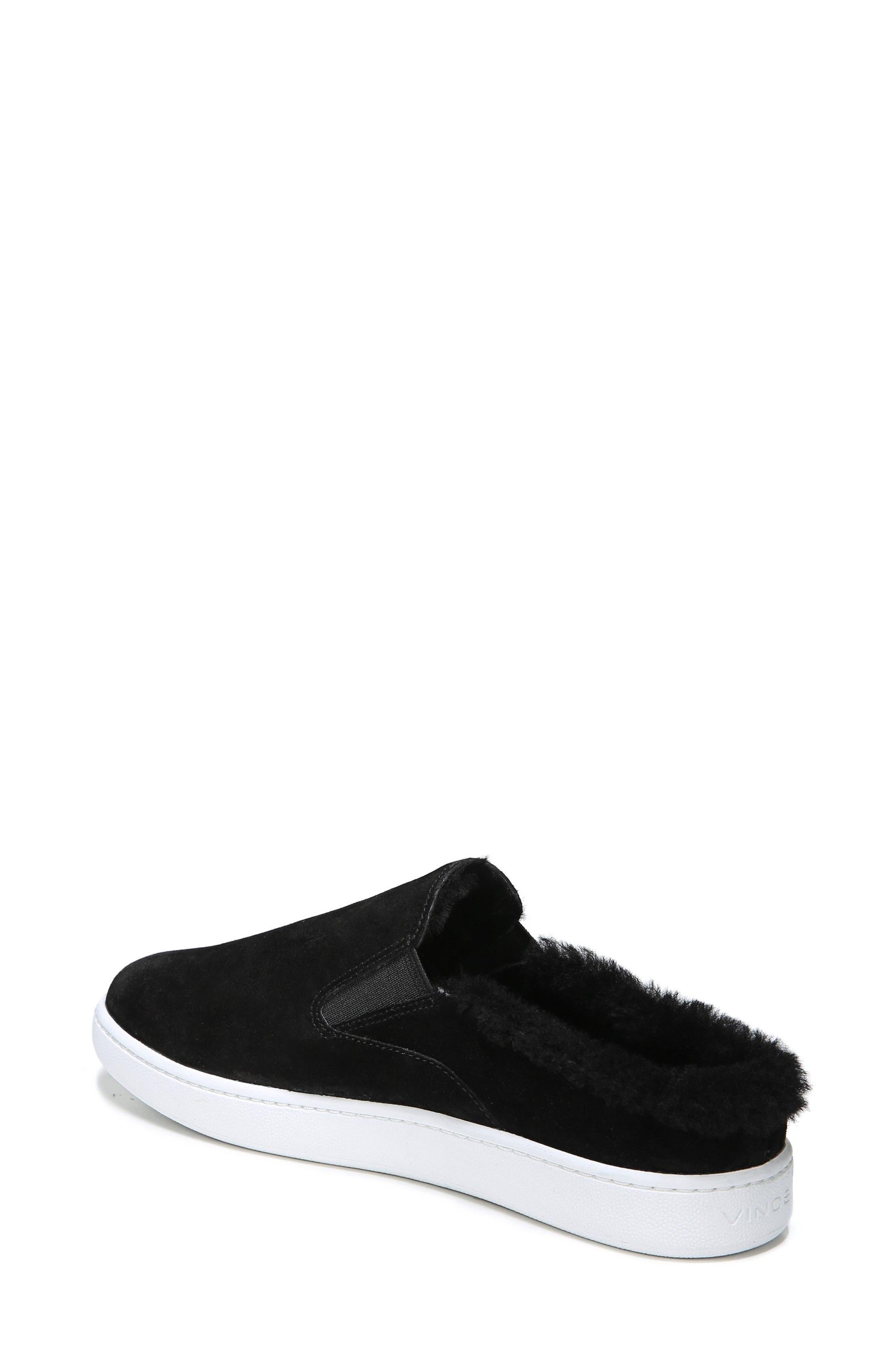 Verrell Genuine Shearling Slip-On Sneaker,                             Alternate thumbnail 2, color,                             001