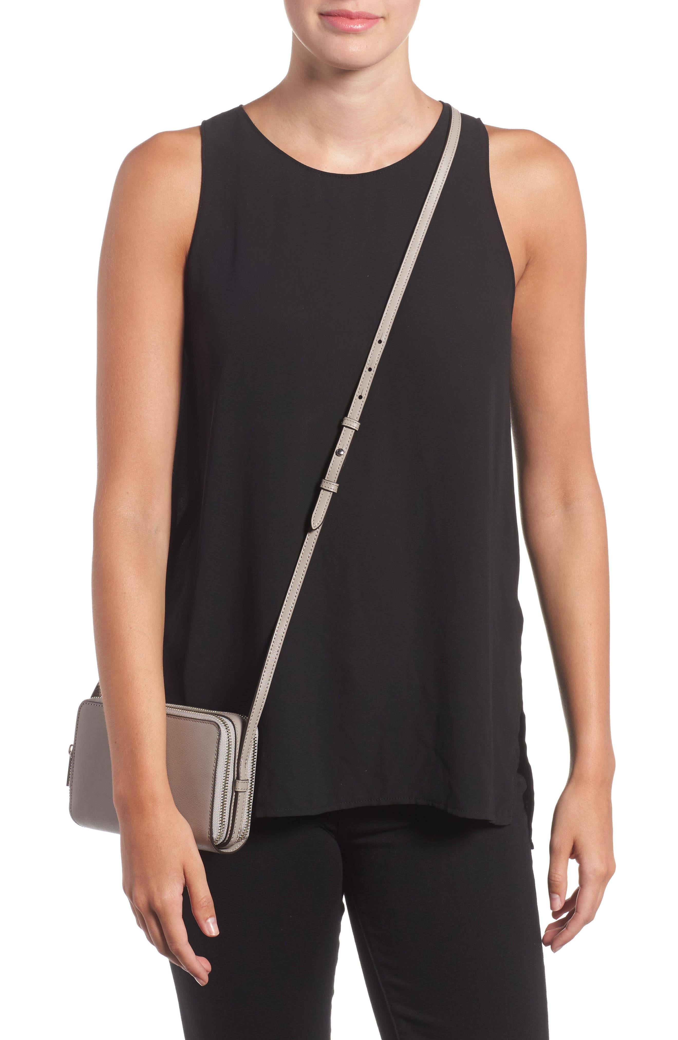 Mini Parker Leather Crossbody Bag,                             Alternate thumbnail 5, color,