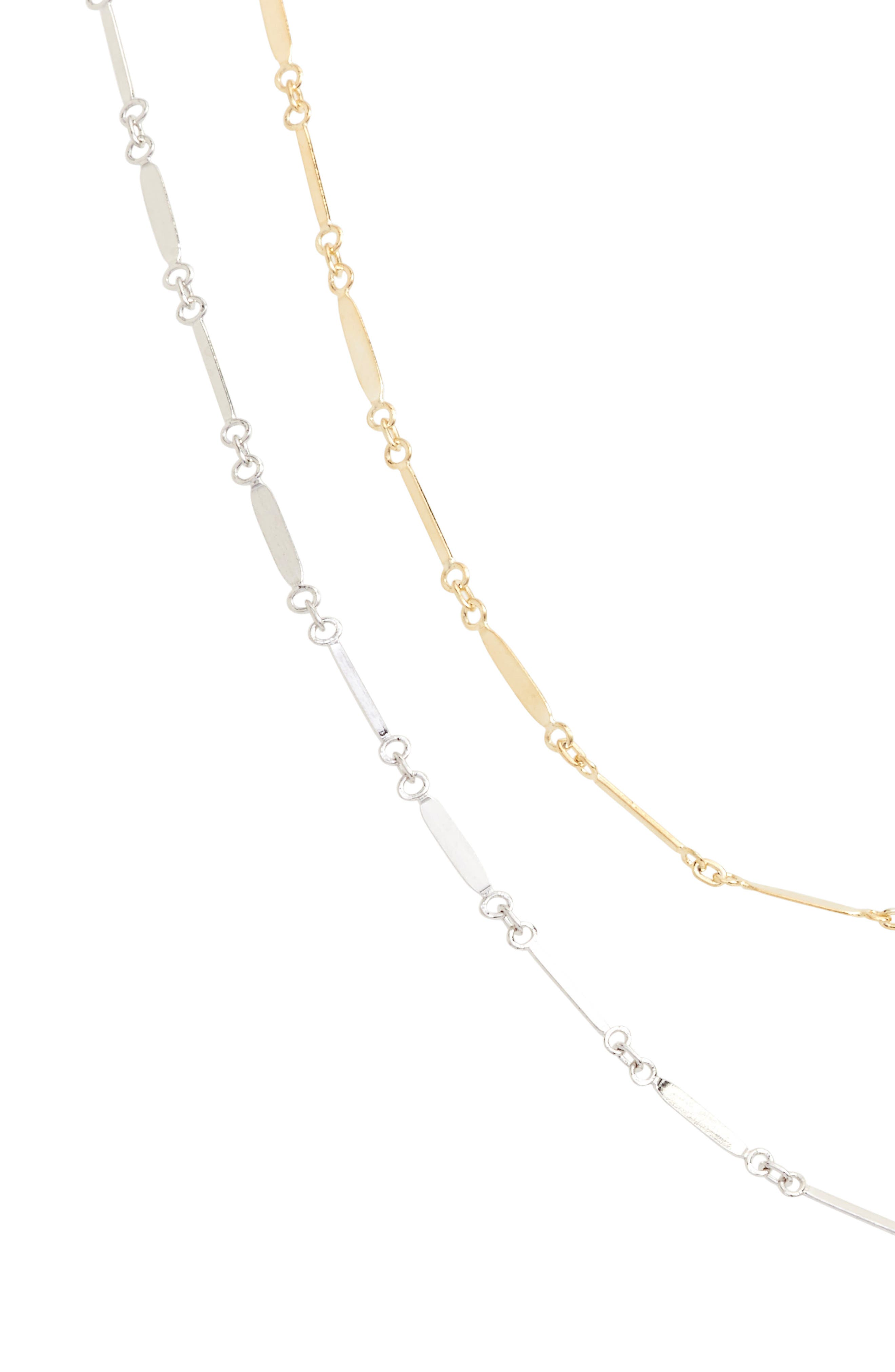 Two-Tone Mirror Multistrand Necklace,                             Alternate thumbnail 2, color,                             GOLD/ SILVER