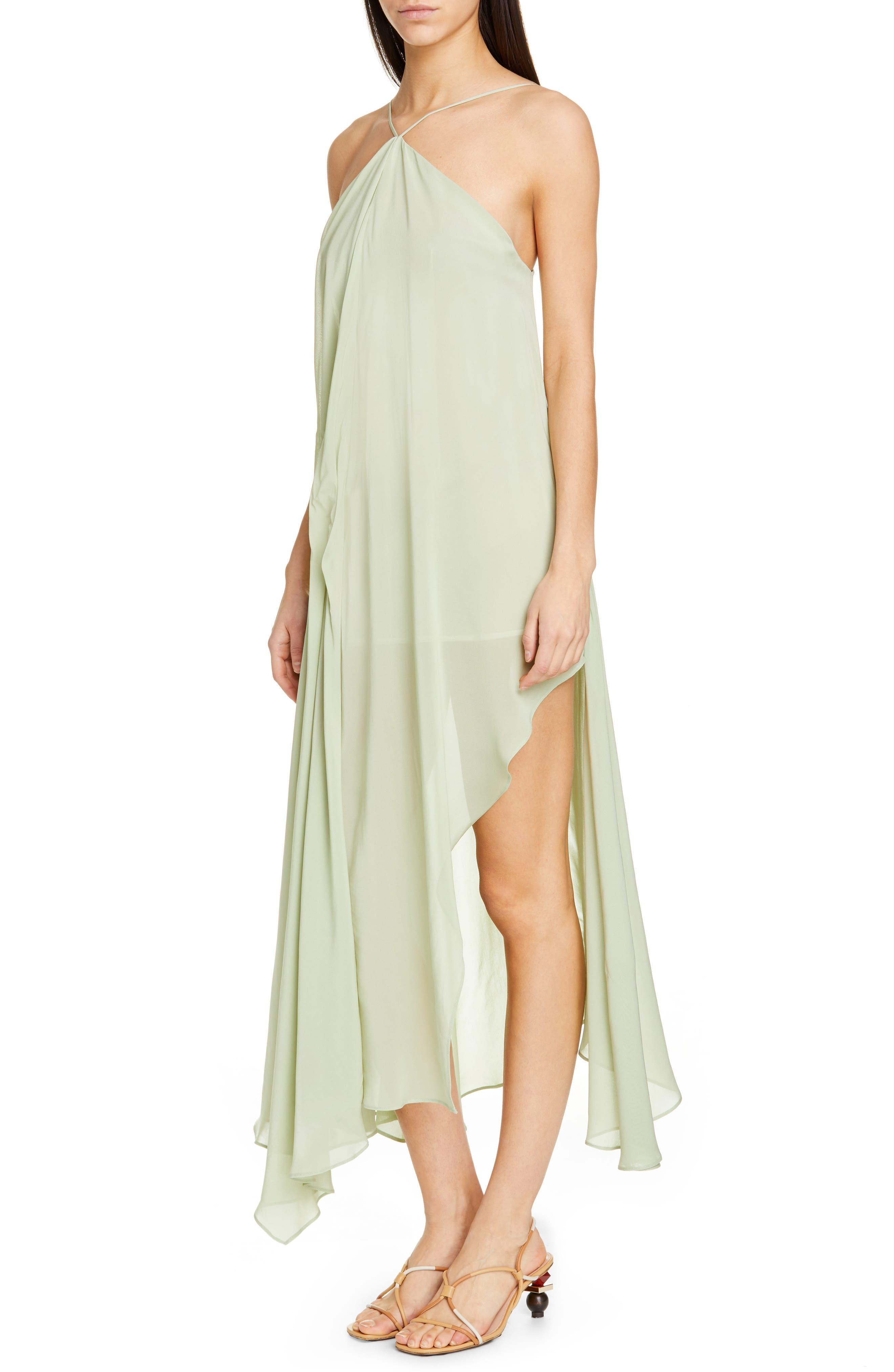 La Robe Spiaggia Halter Dress,                             Alternate thumbnail 4, color,                             LIGHT GREEN