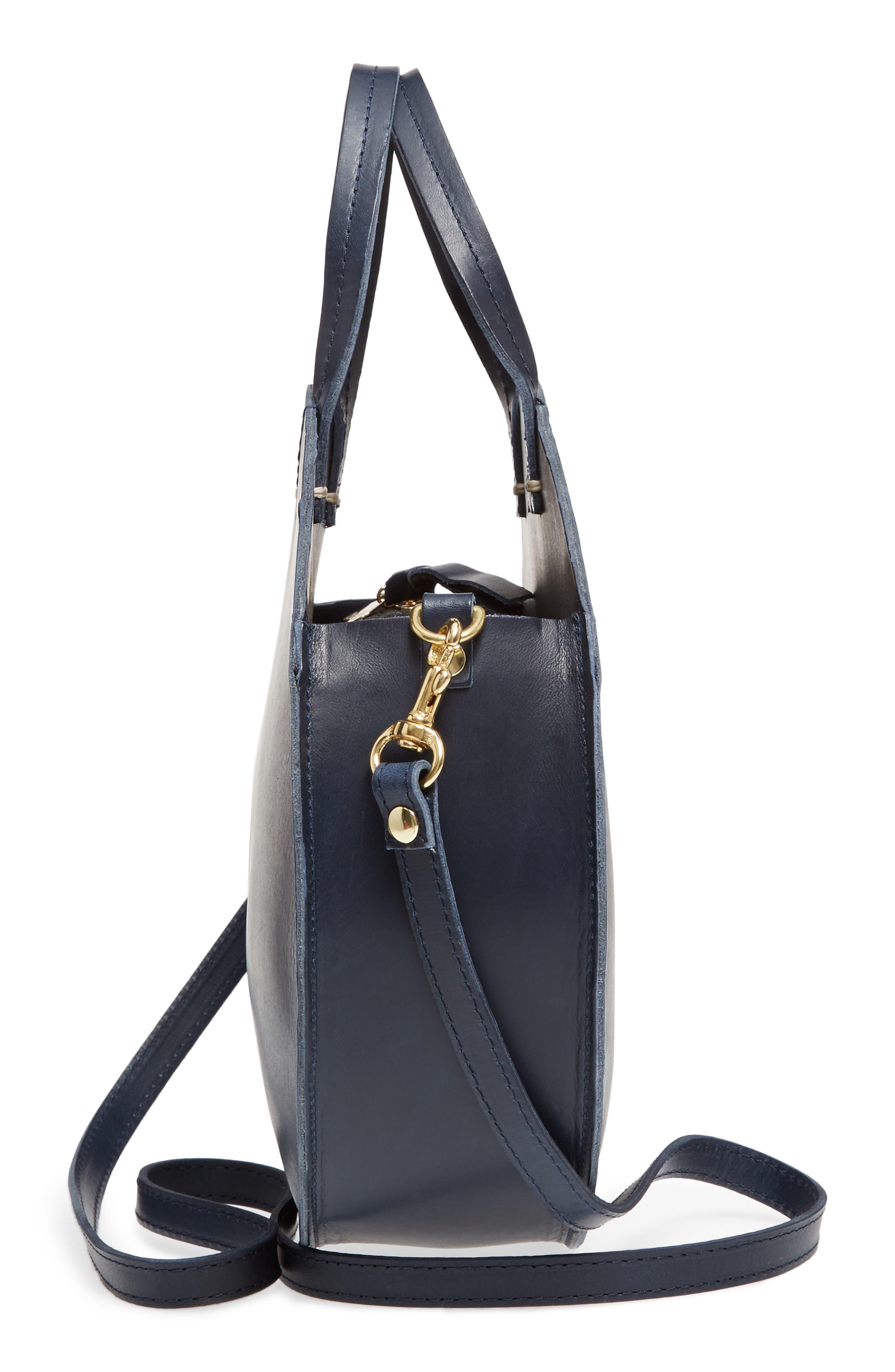 Petite Alistair Leather Circular Crossbody Bag,                             Alternate thumbnail 5, color,
