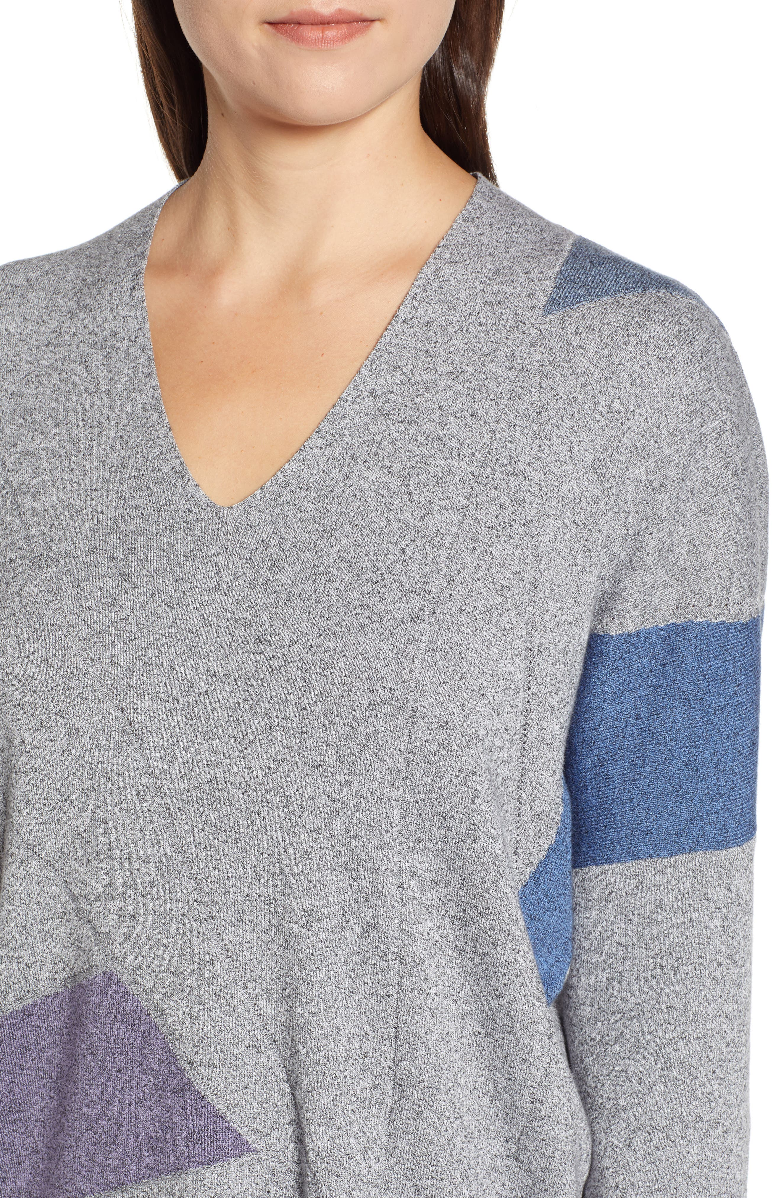 Colorblock Sweater,                             Alternate thumbnail 4, color,                             MULTI