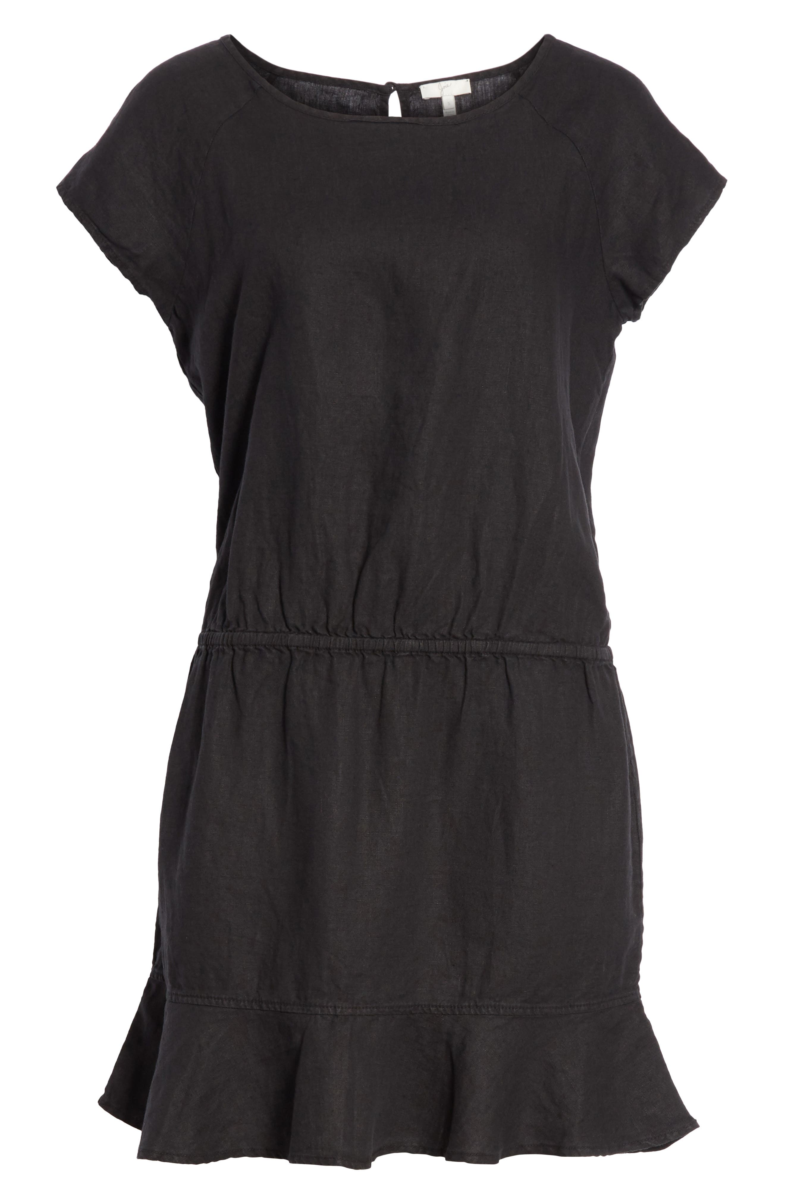Quora Ruffle Linen Dress,                             Alternate thumbnail 11, color,