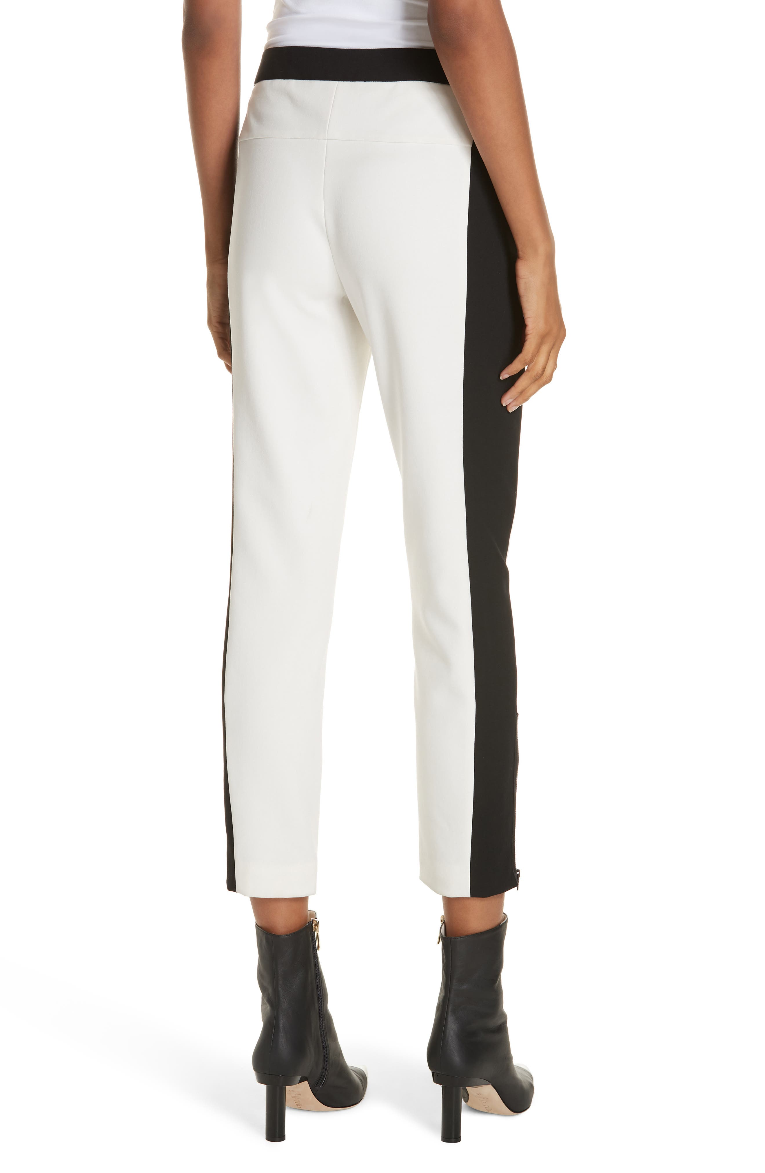 Anson Tuxedo Skinny Pants,                             Alternate thumbnail 2, color,                             IVORY MULTI