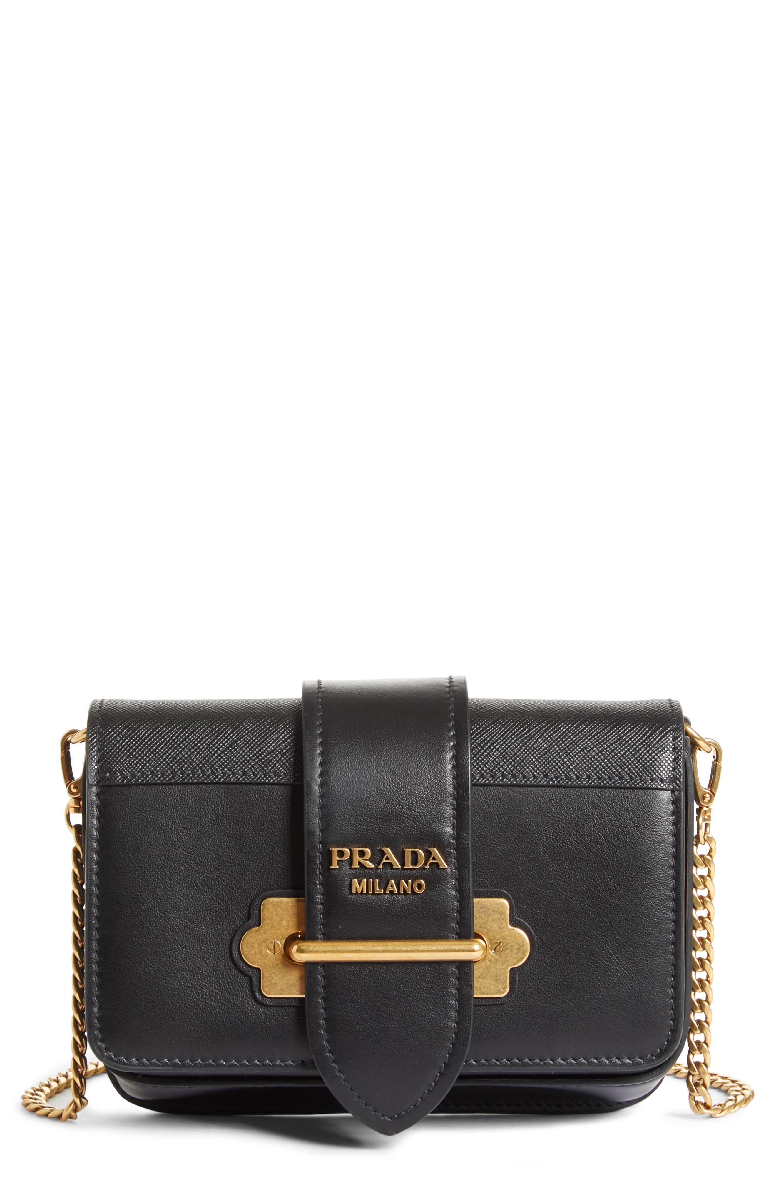 Cahier Calfskin Leather Convertible Belt Bag,                         Main,                         color, 001
