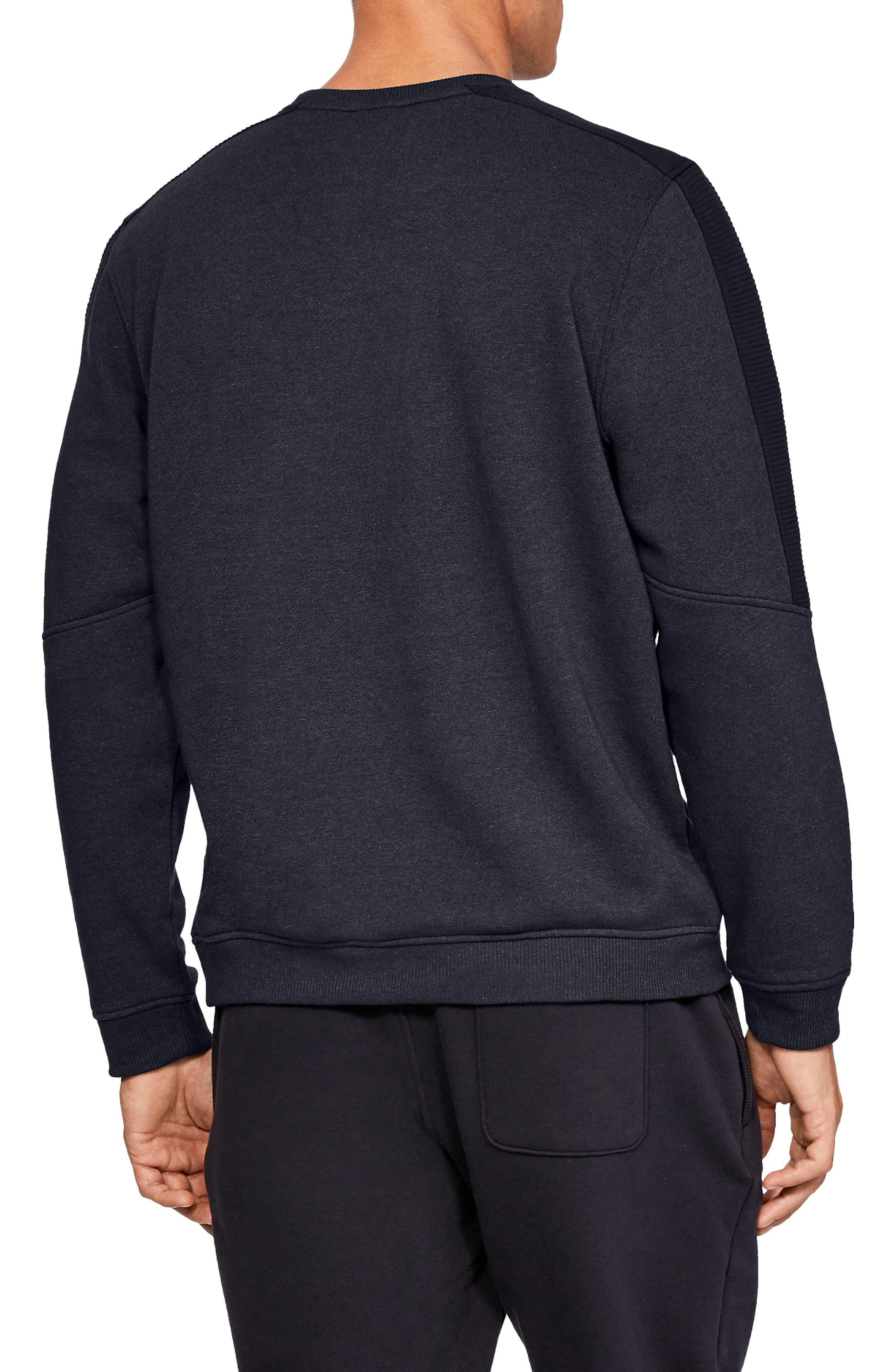 Threadborne Siro Fleece Crewneck Sweatshirt,                             Alternate thumbnail 2, color,                             BLACK/ BLACK/ BLACK