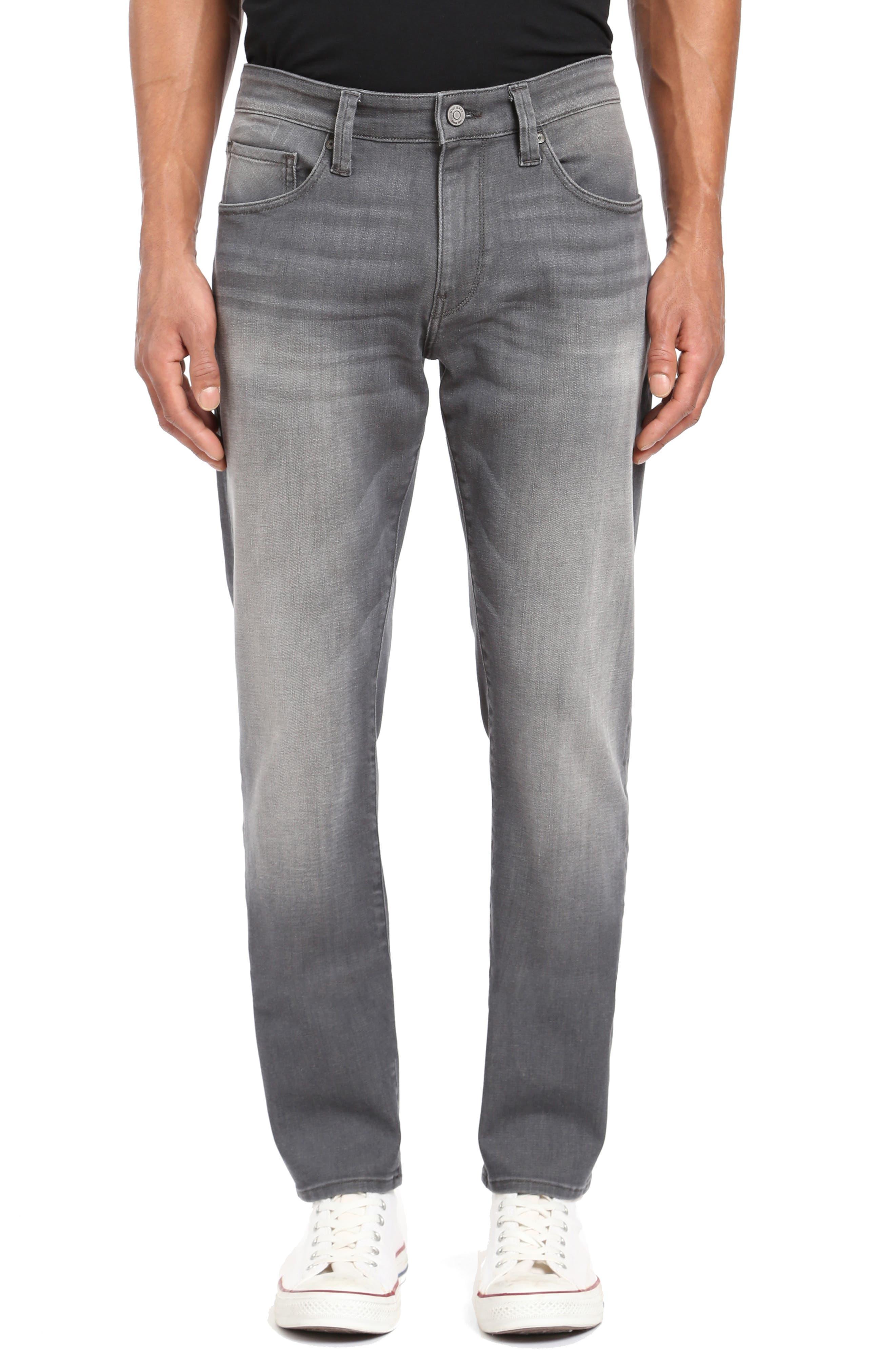 Zach Straight Leg Jeans,                         Main,                         color, LIGHT GREY BROOKLYN
