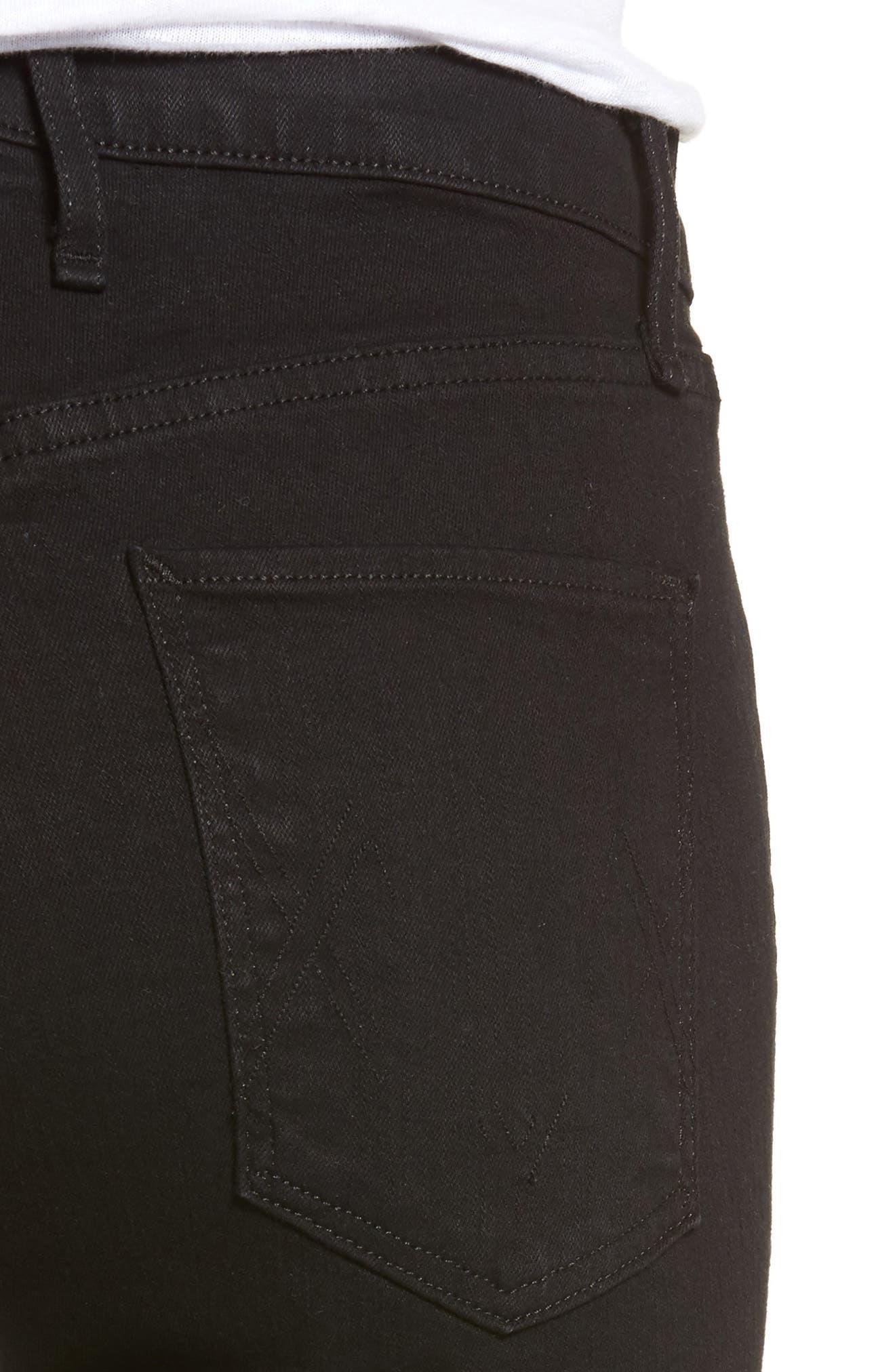 Newton Ankle Skinny Jeans,                             Alternate thumbnail 4, color,                             001