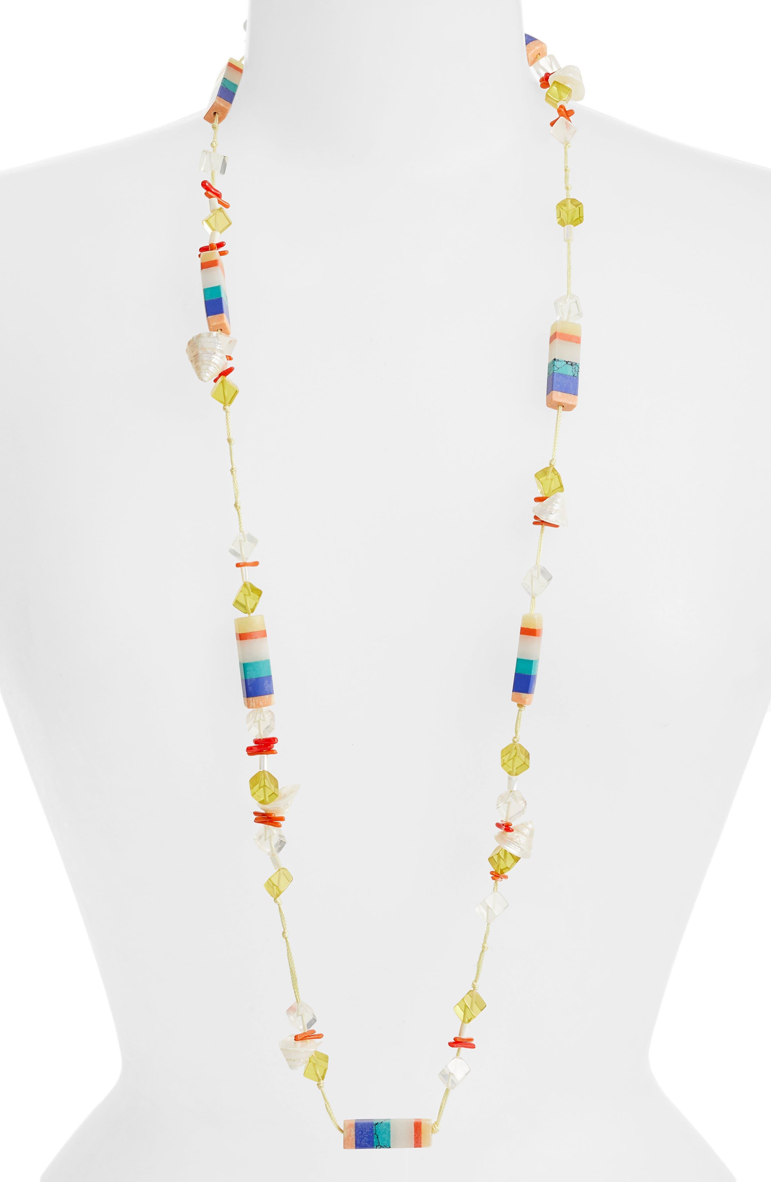 Plankton Necklace,                         Main,                         color, ISLAND HUE