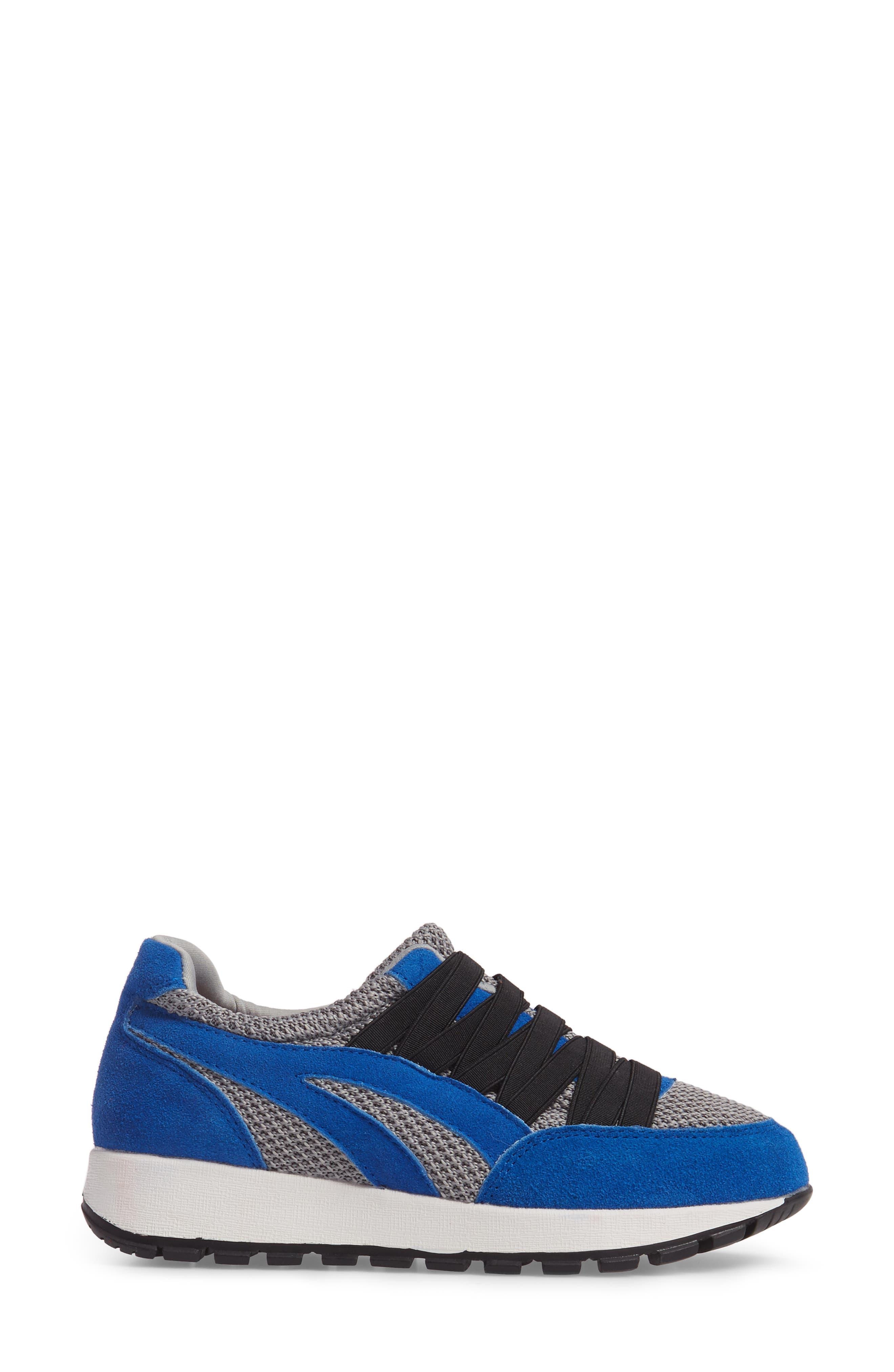 Bernie Mev Tara Cano Sneaker,                             Alternate thumbnail 3, color,                             ROYAL BLUE/ GREY FABRIC