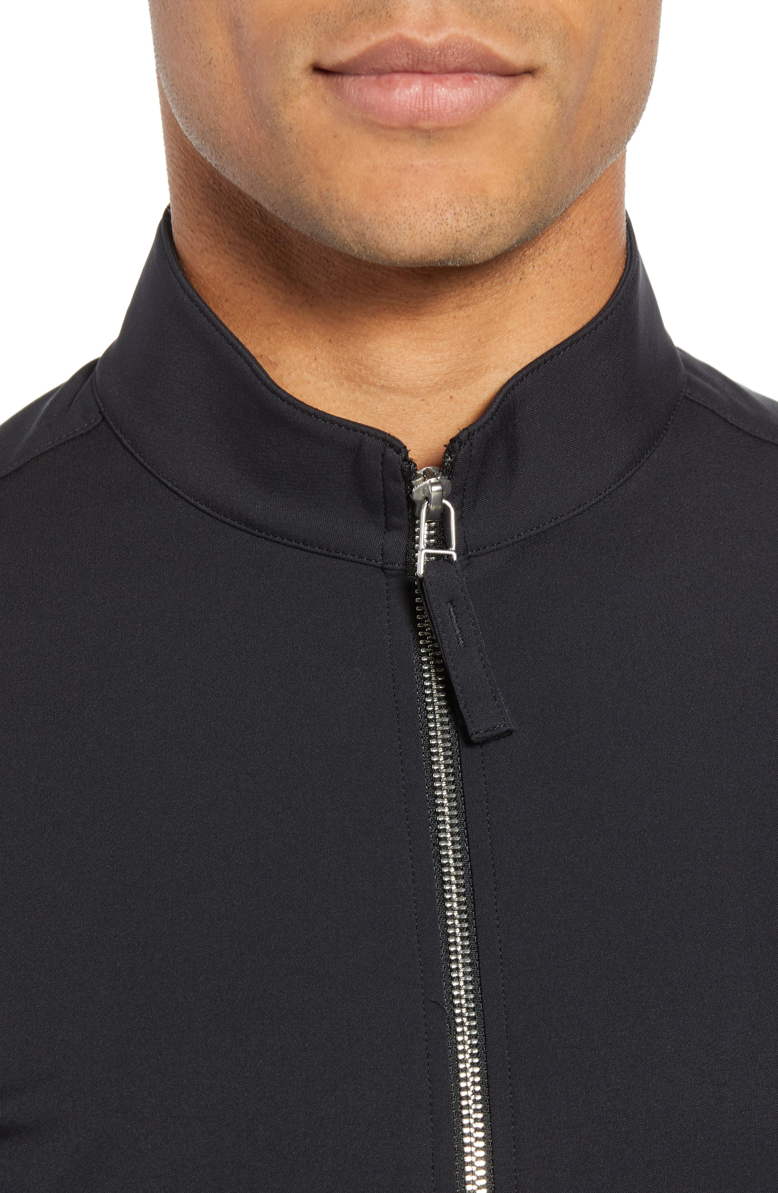 Tremont Neoteric Regular Fit Jacket,                             Alternate thumbnail 4, color,                             BLACK