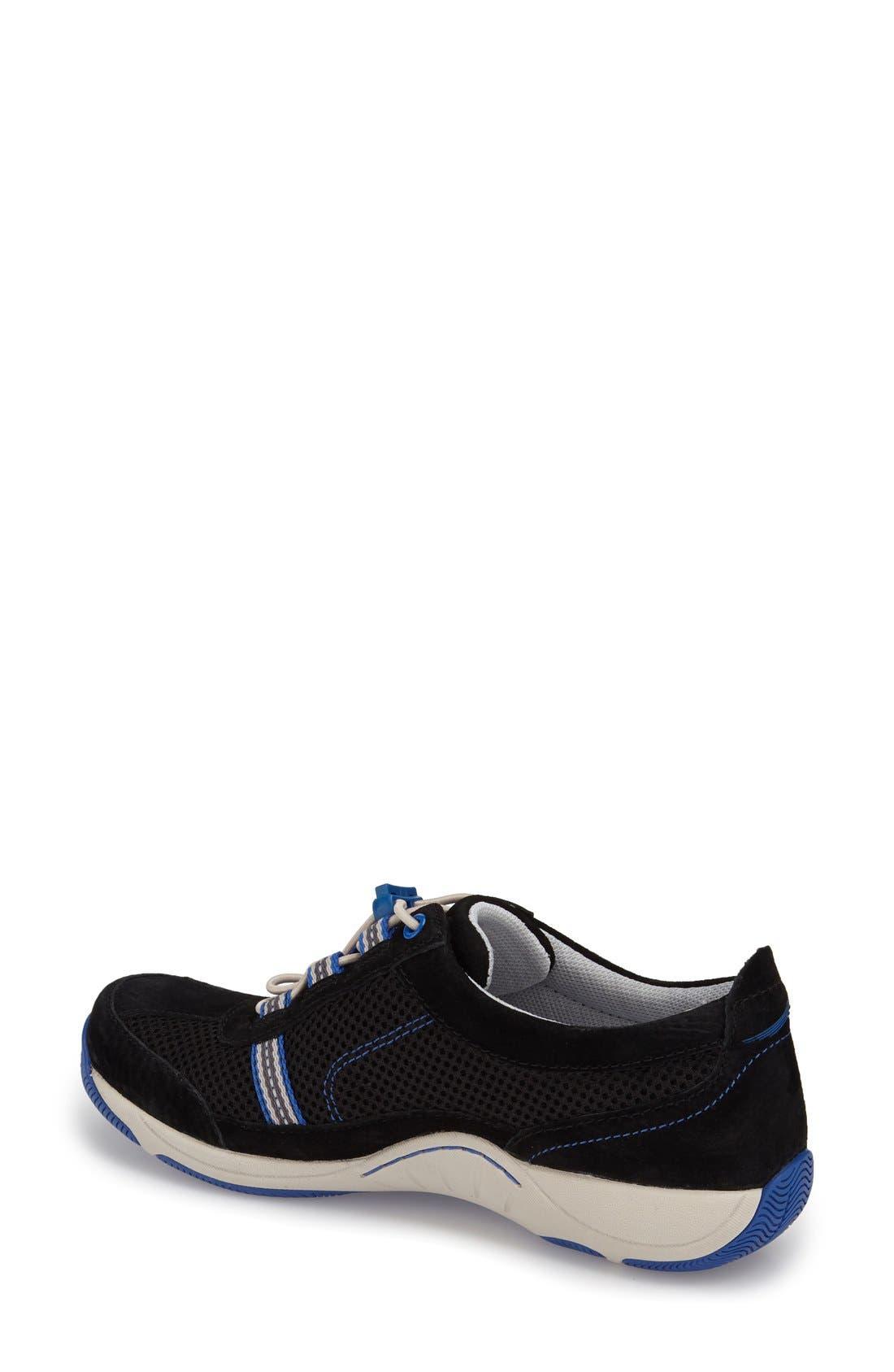 'Helen' Suede & Mesh Sneaker,                             Alternate thumbnail 78, color,