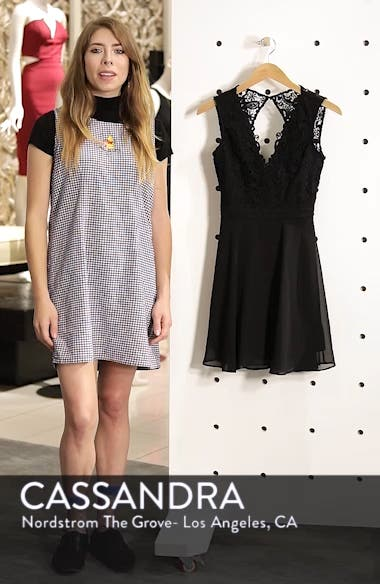 Lace & Chiffon Skater Dress, sales video thumbnail