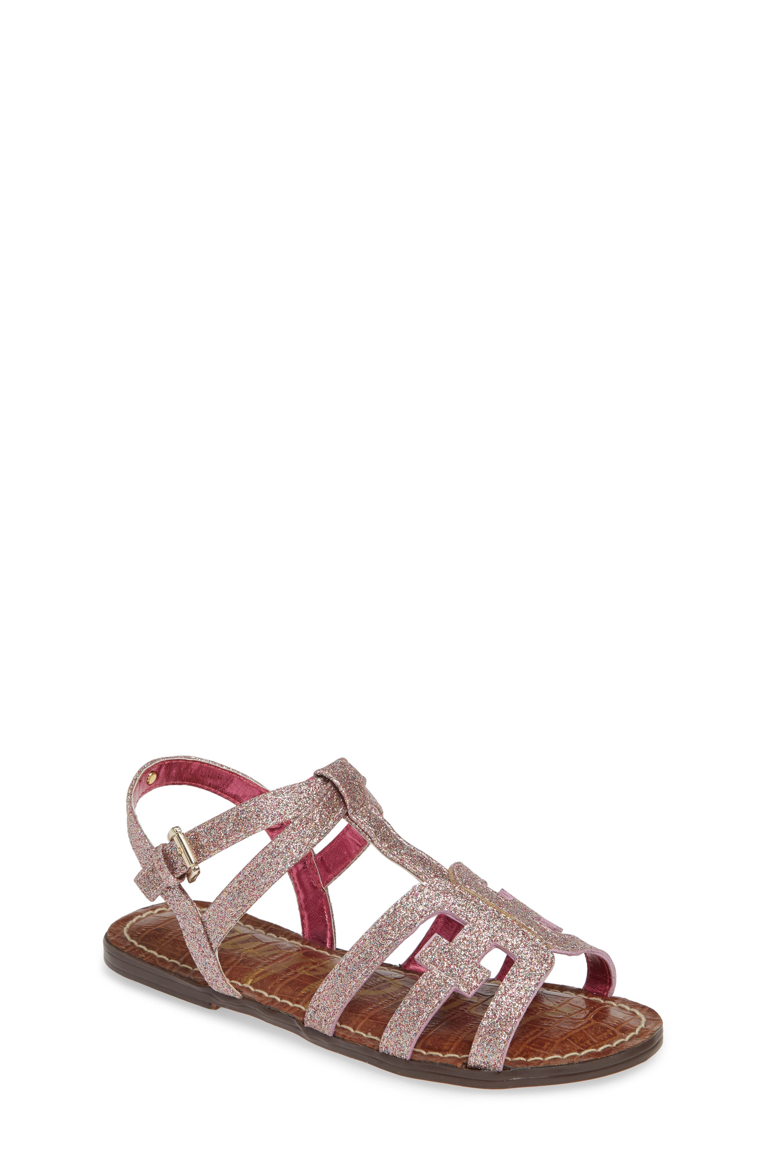 Gigi Cara Glitter Sandal, Main, color, PINK MULTI