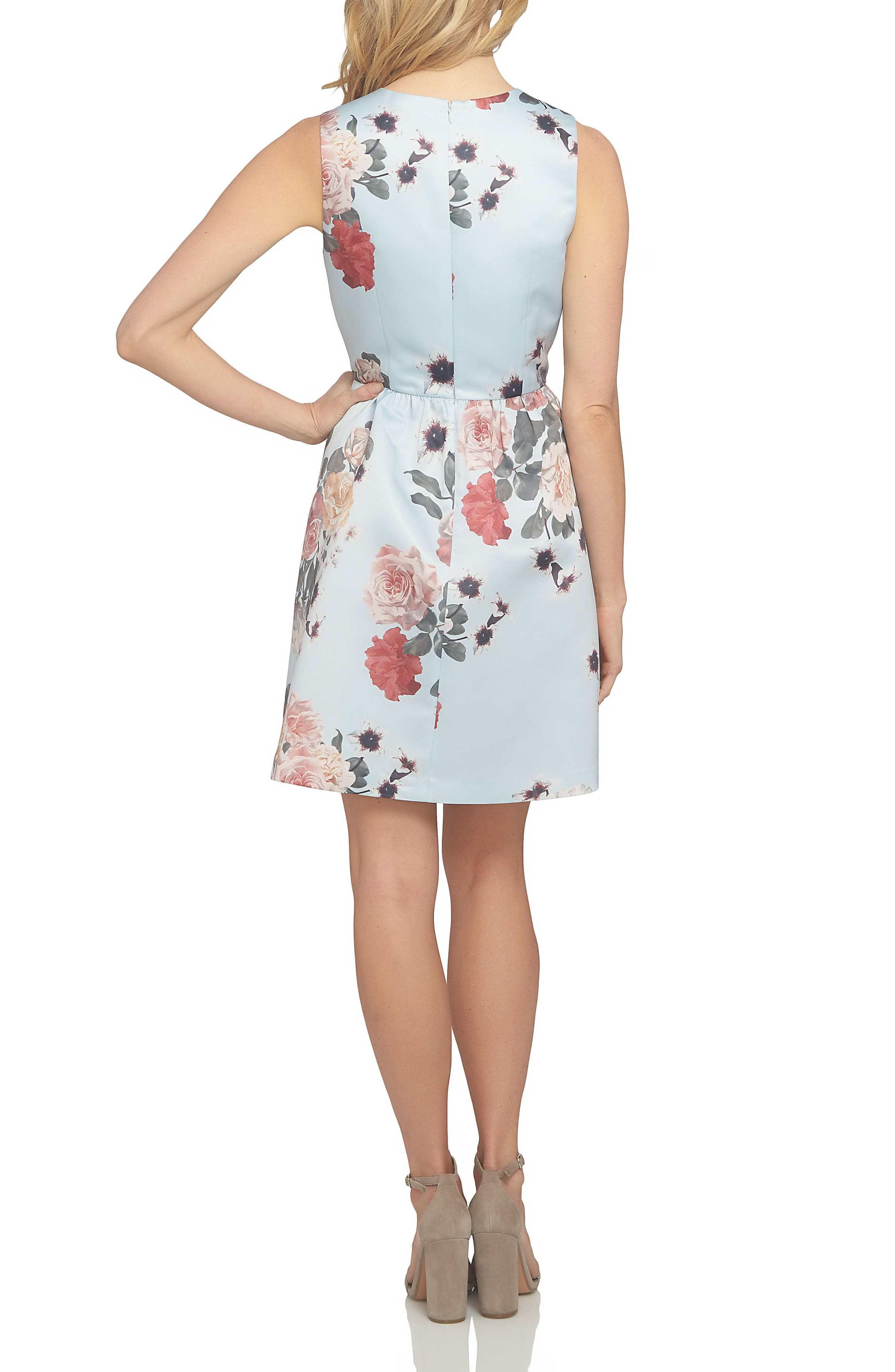 Rose Fit & Flare Dress,                             Alternate thumbnail 2, color,                             460