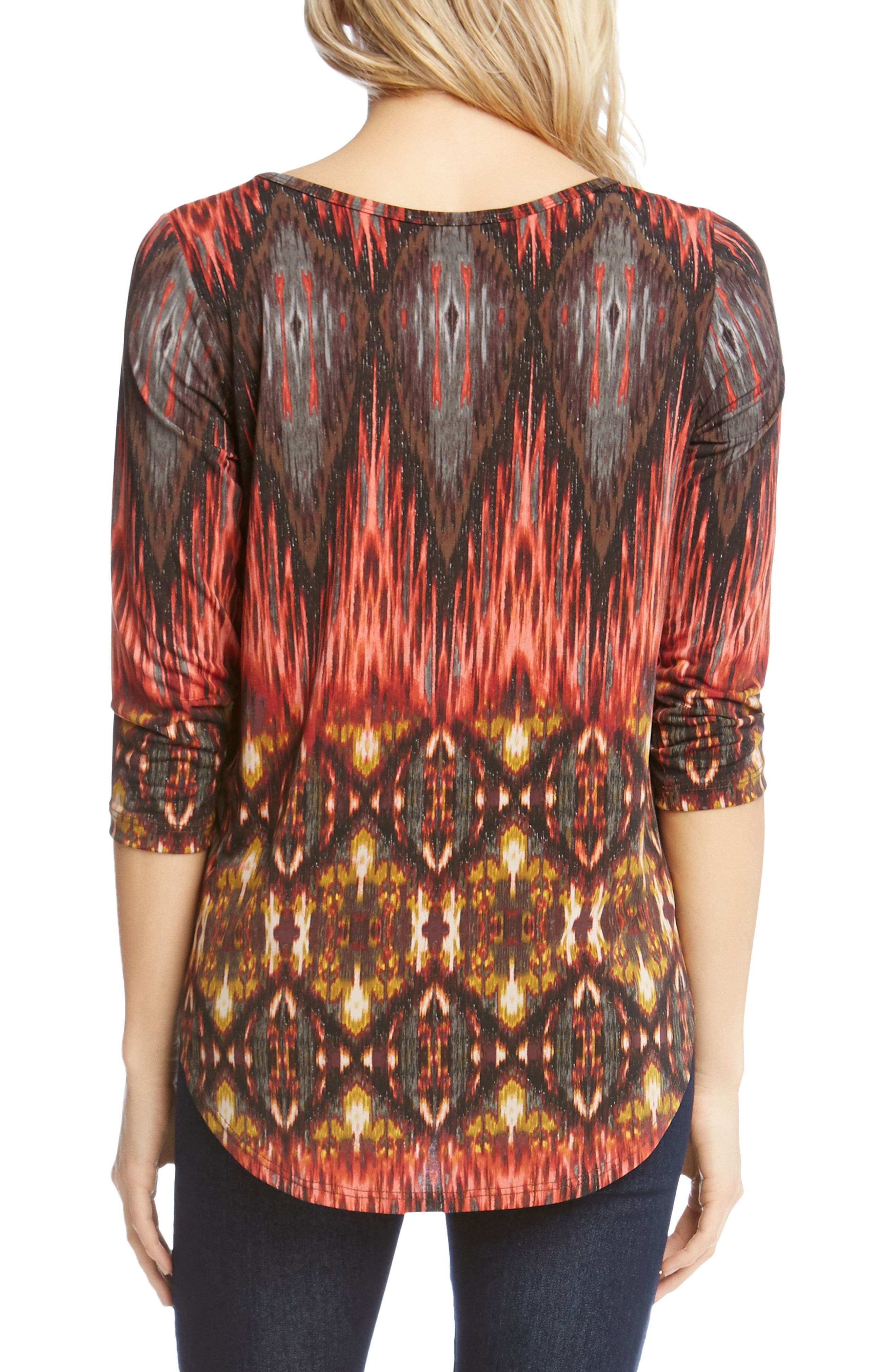 Desert Print Shirttail Tee,                             Alternate thumbnail 2, color,