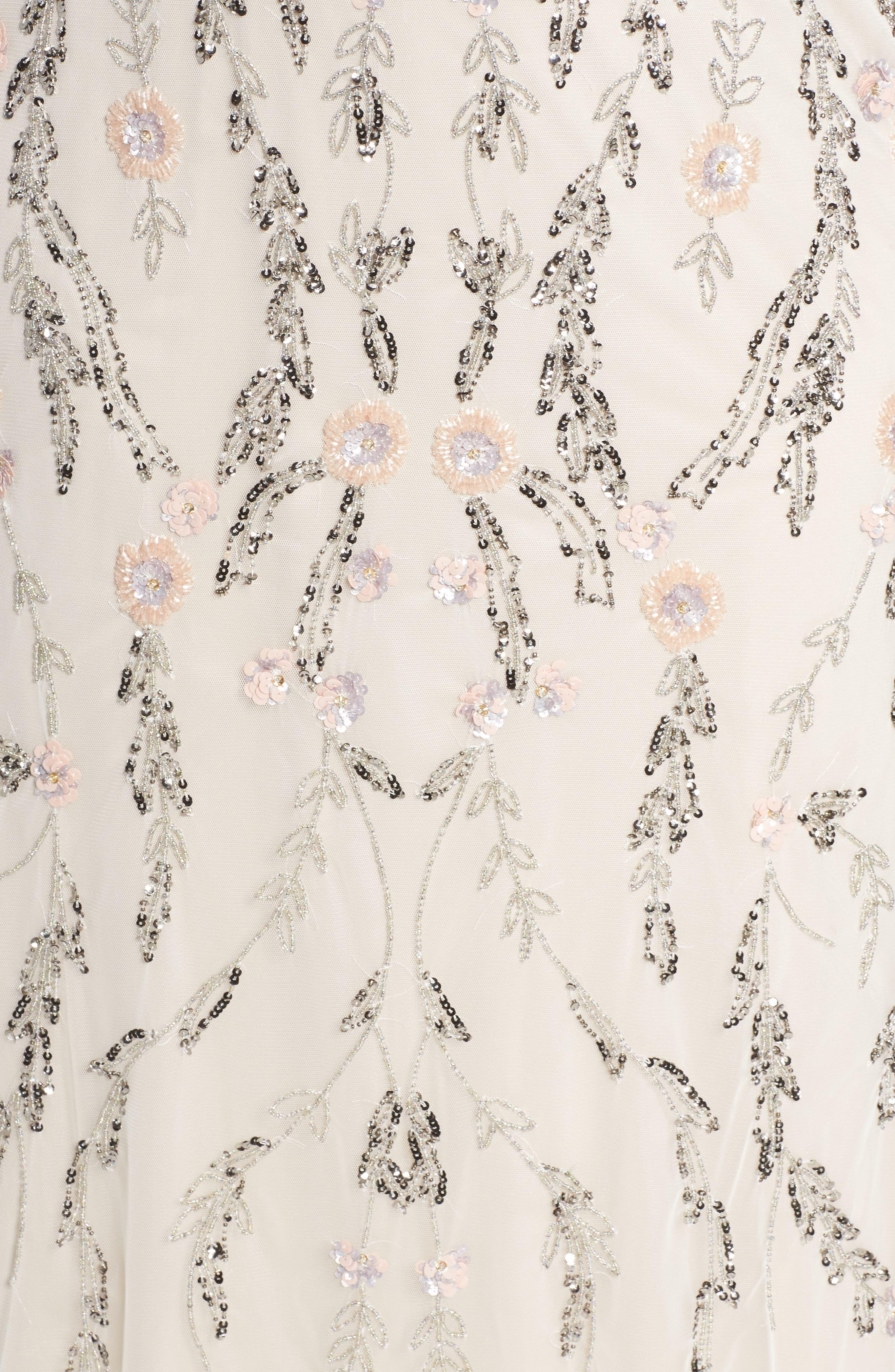 Beaded Blouson Gown,                             Alternate thumbnail 5, color,                             900