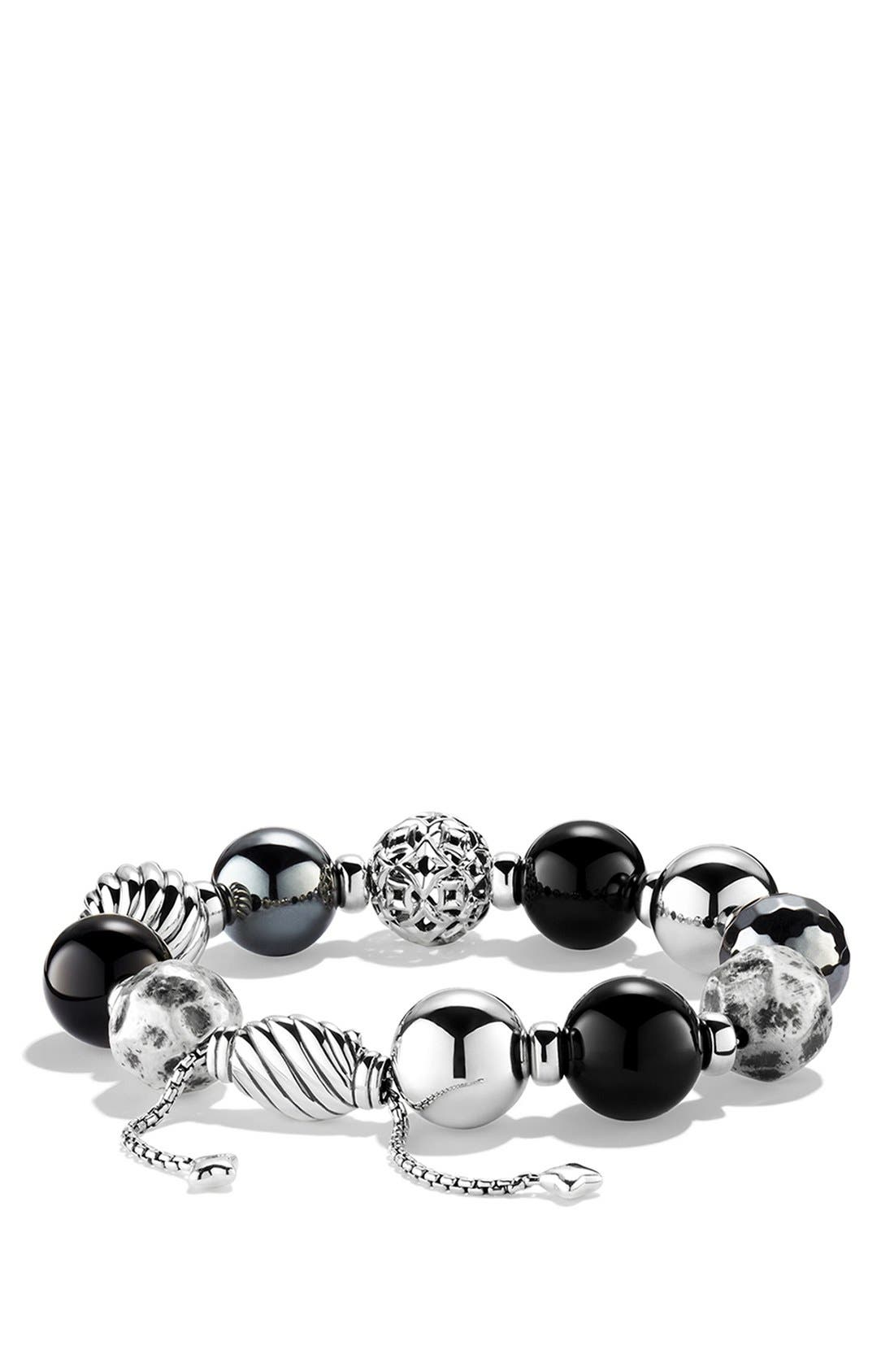 'DY Elements' Bracelet with Black Onyx and Hematine, Main, color, 001