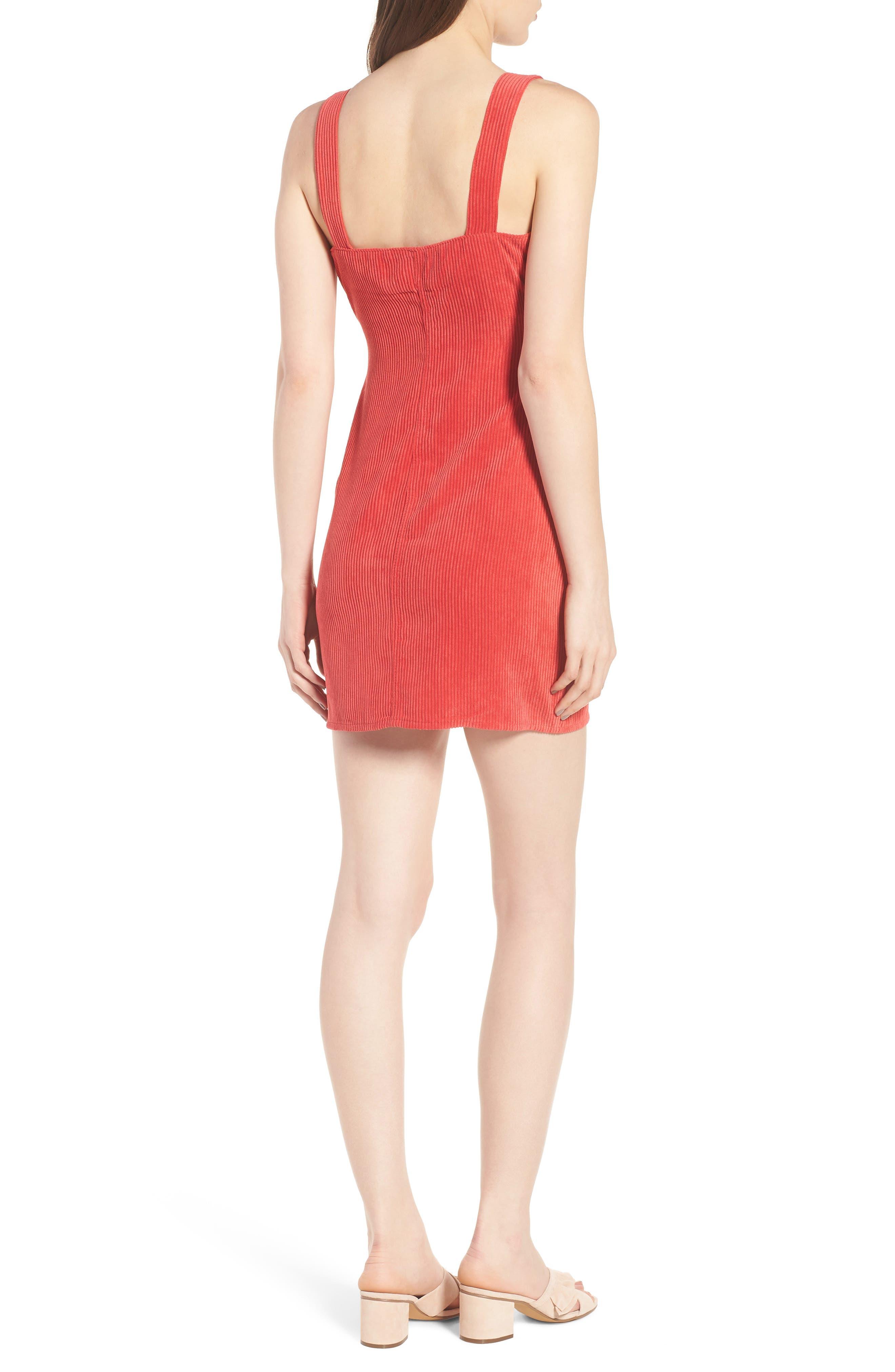 Button Front Corduroy Dress,                             Alternate thumbnail 2, color,                             621