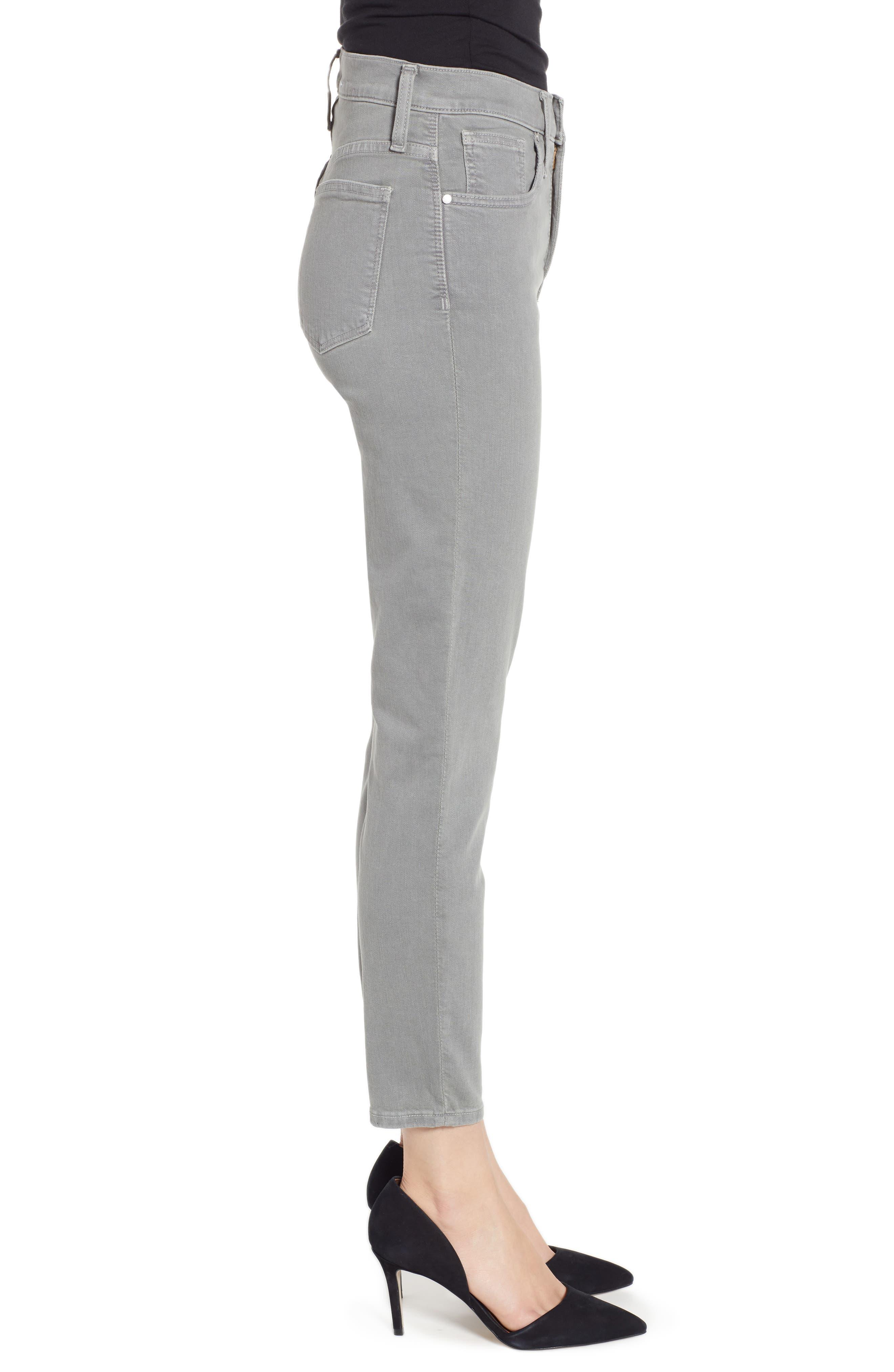 Sierra High Waist Ankle Skinny Pants,                             Alternate thumbnail 3, color,                             GREY