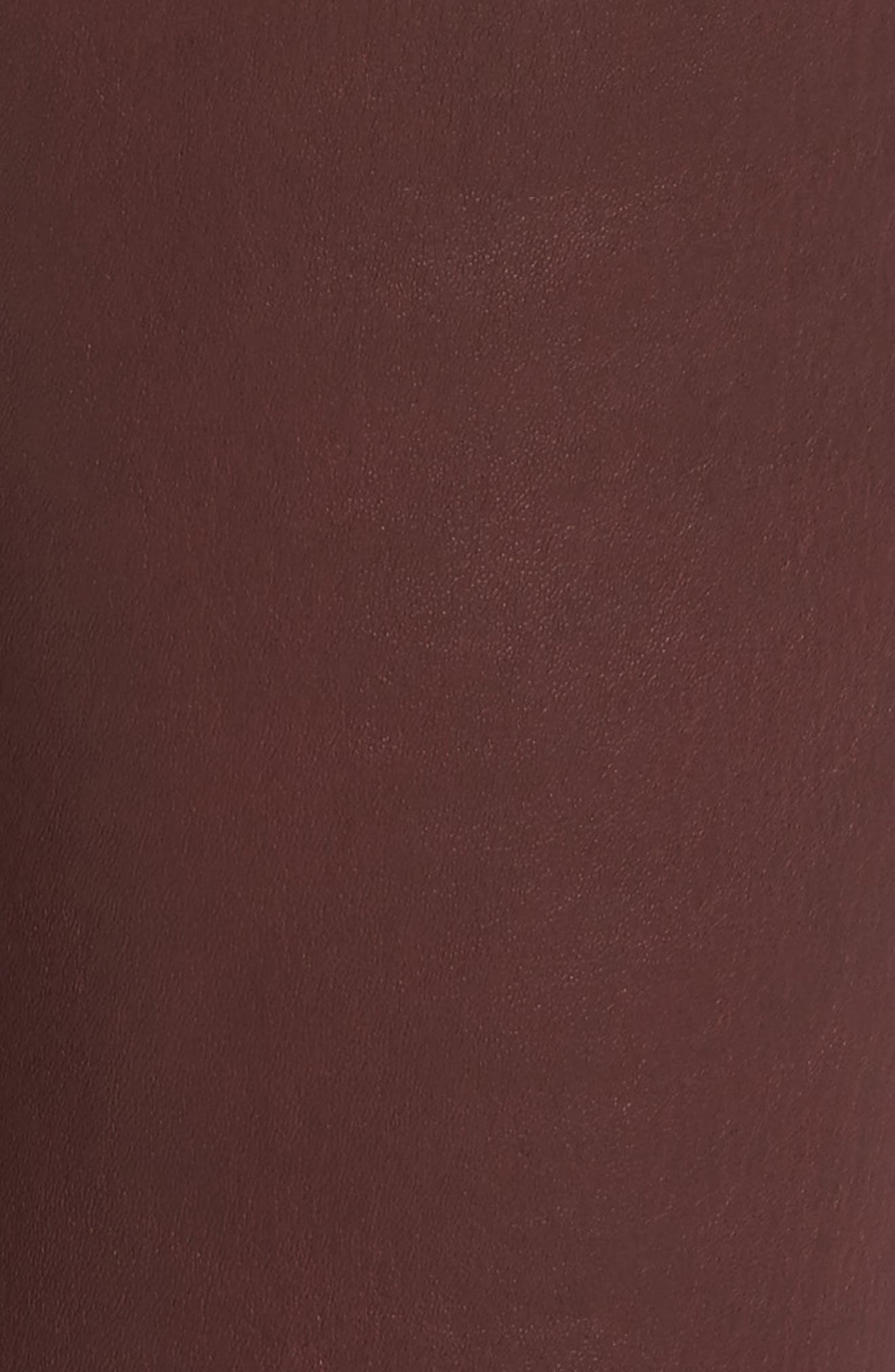 Farrah Leather Skinny Jeans,                             Alternate thumbnail 15, color,
