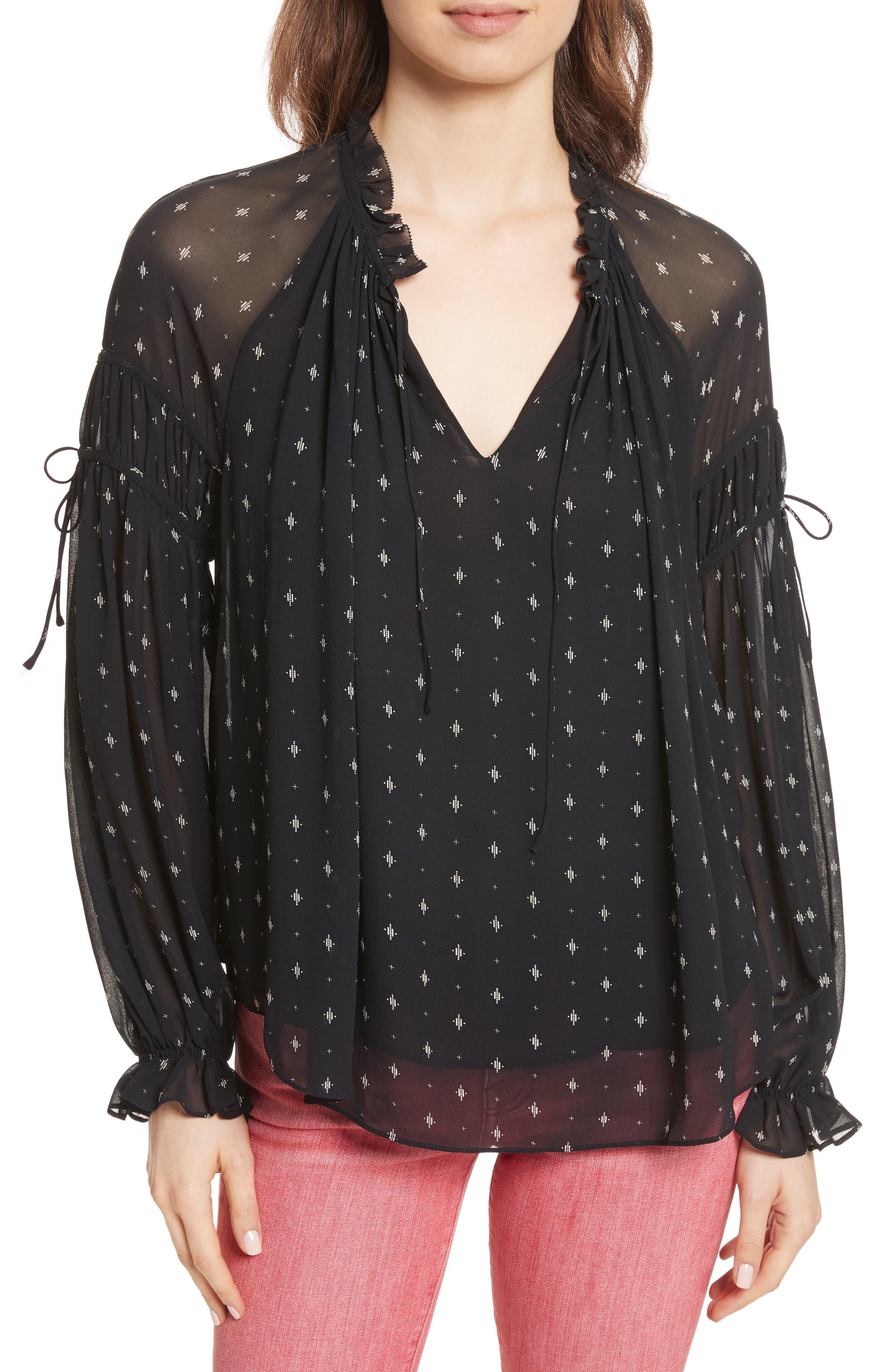 Amalthea Ruffle Silk Top,                         Main,                         color,