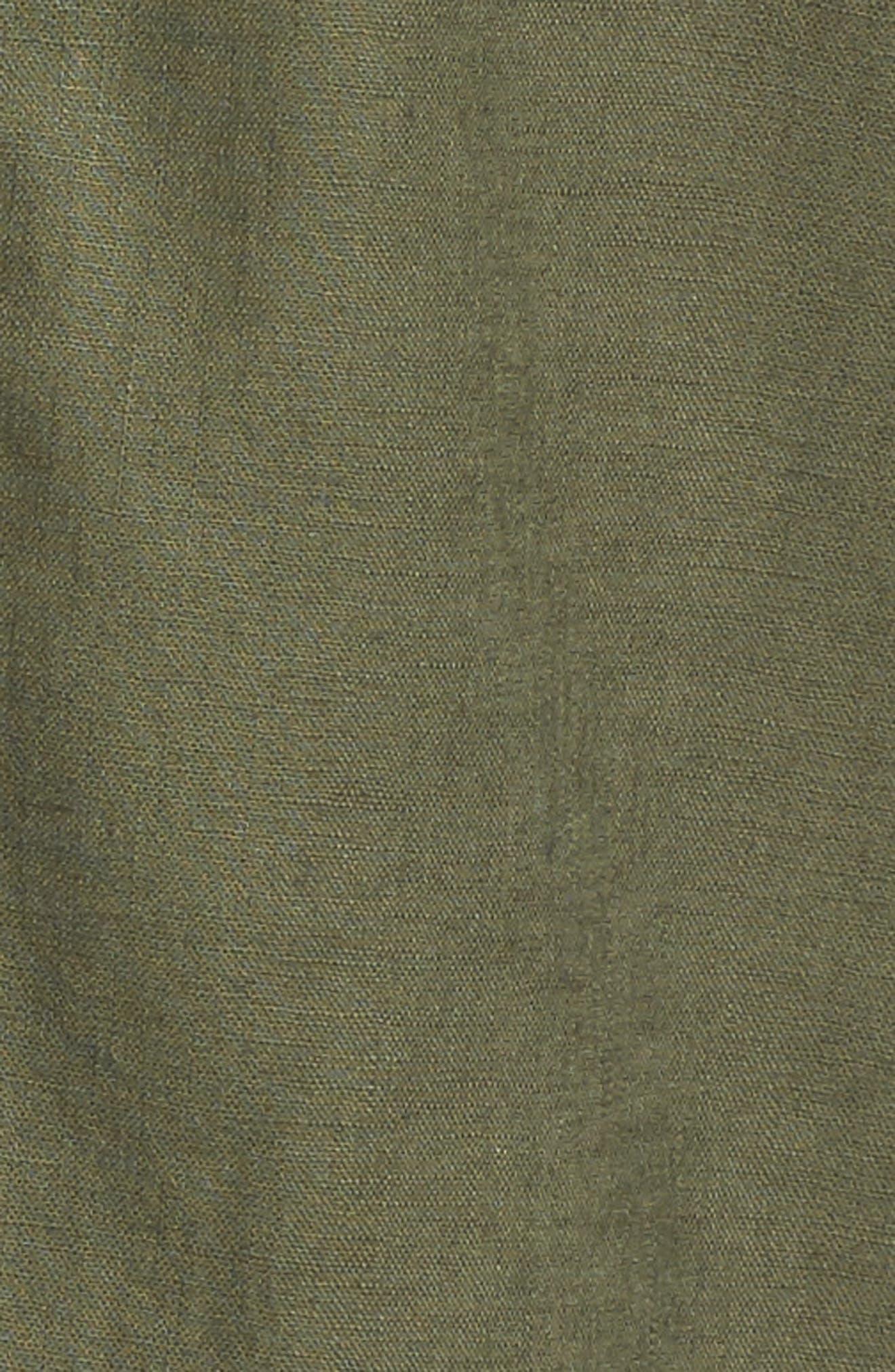 Tie Sleeve Linen & Cotton Jacket,                             Alternate thumbnail 17, color,