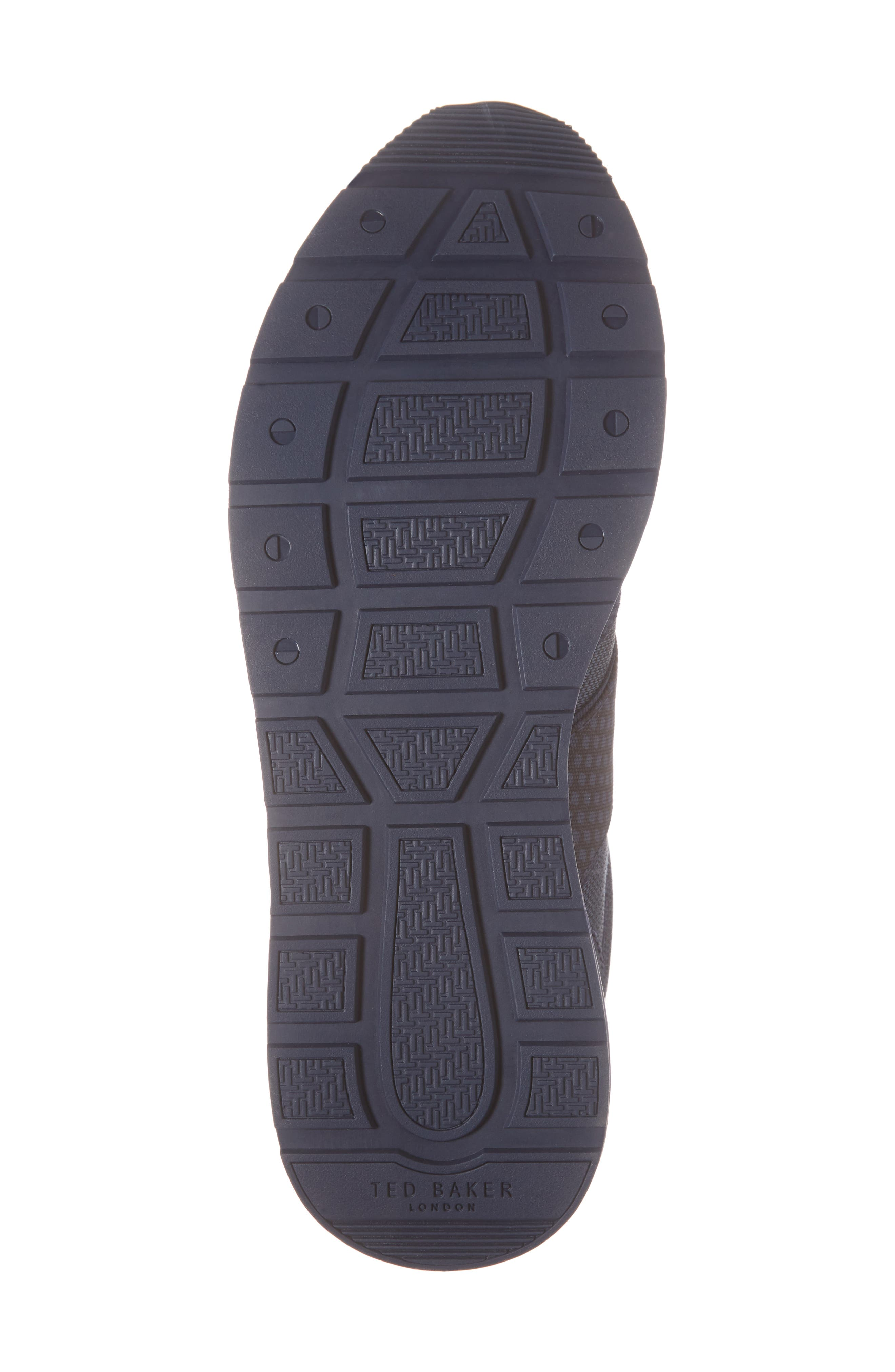 Hebey Lace-Up Sneaker,                             Alternate thumbnail 6, color,                             DARK BLUE TEXTILE