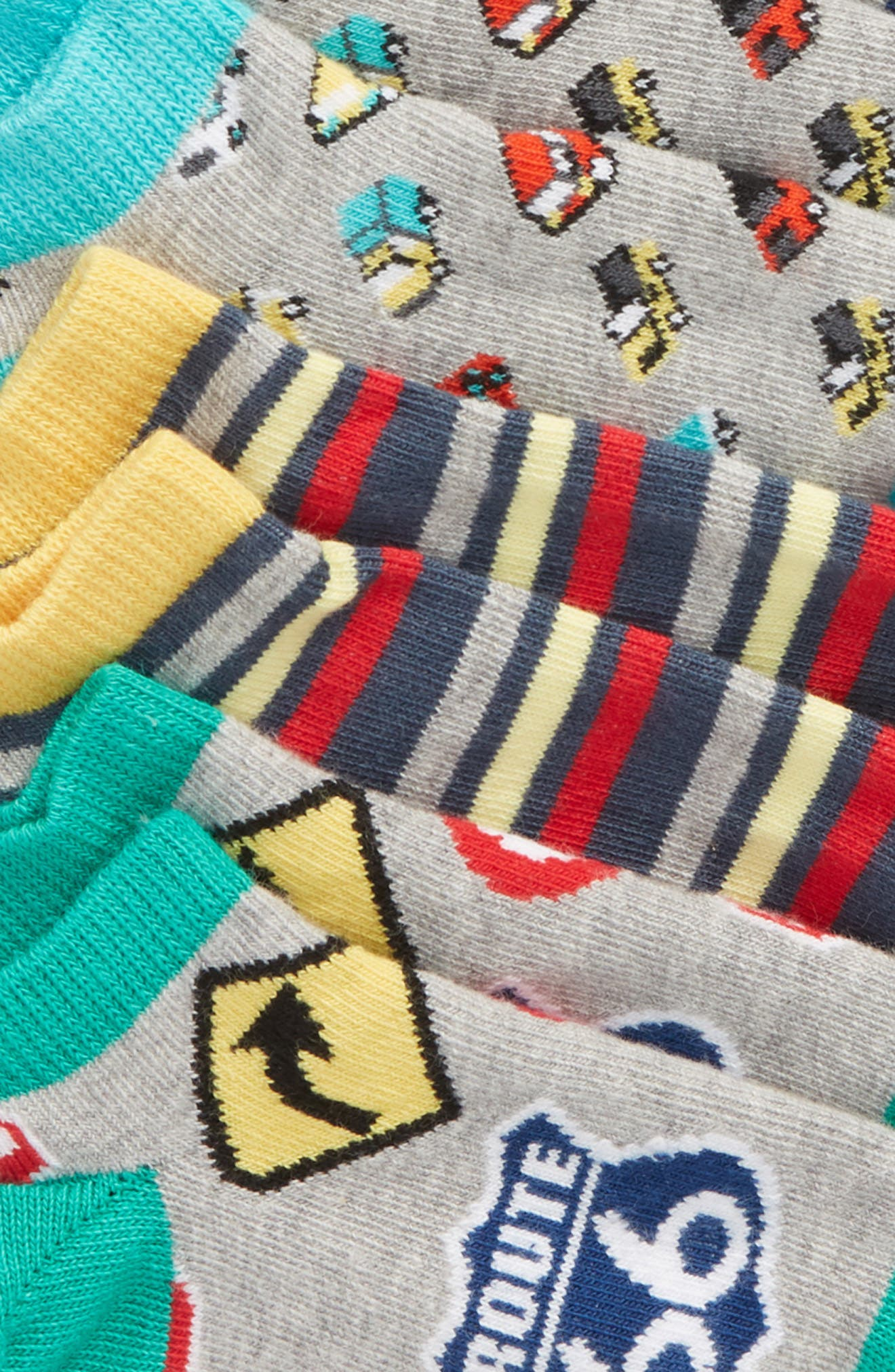 TUCKER + TATE,                             6-Pack Vehicle Low Cut Socks,                             Alternate thumbnail 2, color,                             096