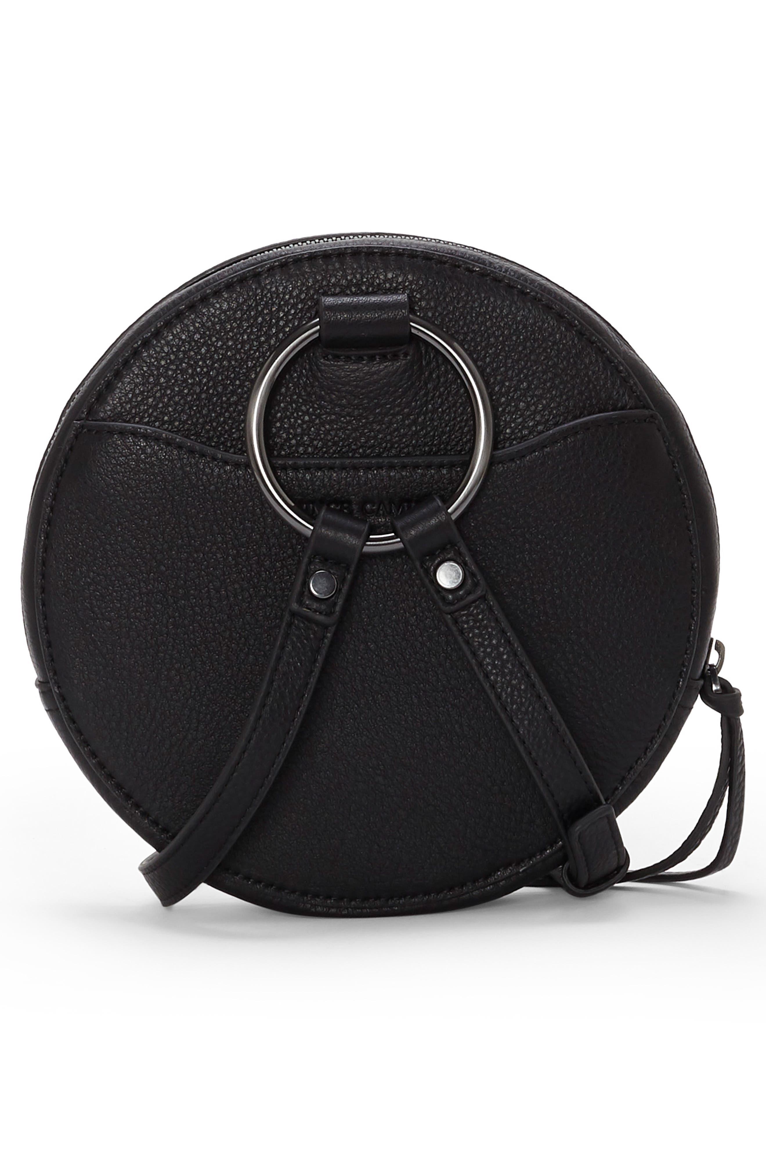 Julie Leather Circle Crossbody Bag,                             Alternate thumbnail 2, color,                             002
