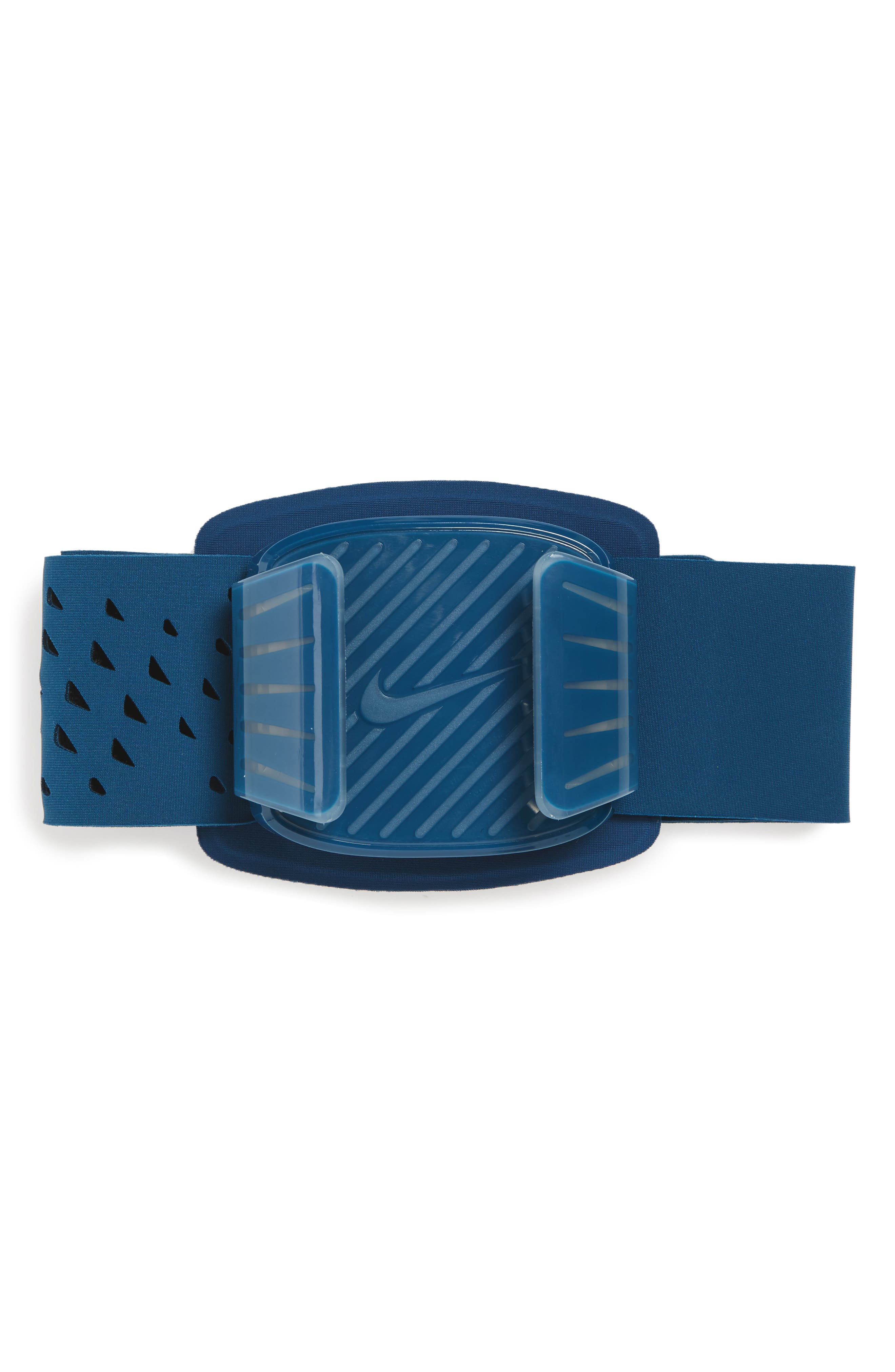 Universal Running Armband,                             Main thumbnail 1, color,                             BLUE FORCE/ CLEAR/ SILVER