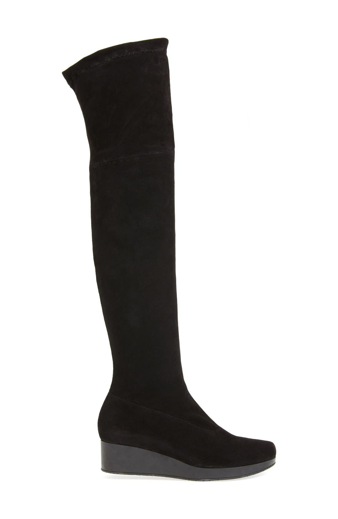 Wedge Over the Knee Boot,                             Alternate thumbnail 4, color,                             005
