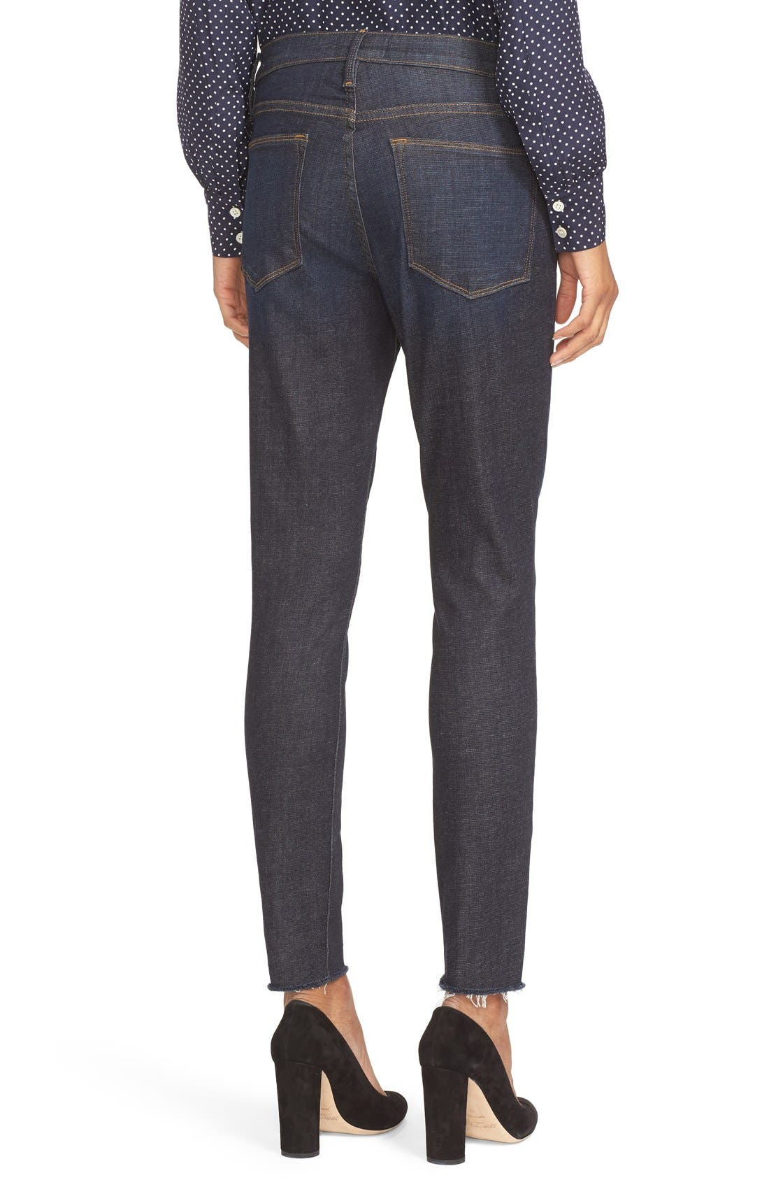 High Waist Skinny Jeans,                             Alternate thumbnail 3, color,                             SALTAIR