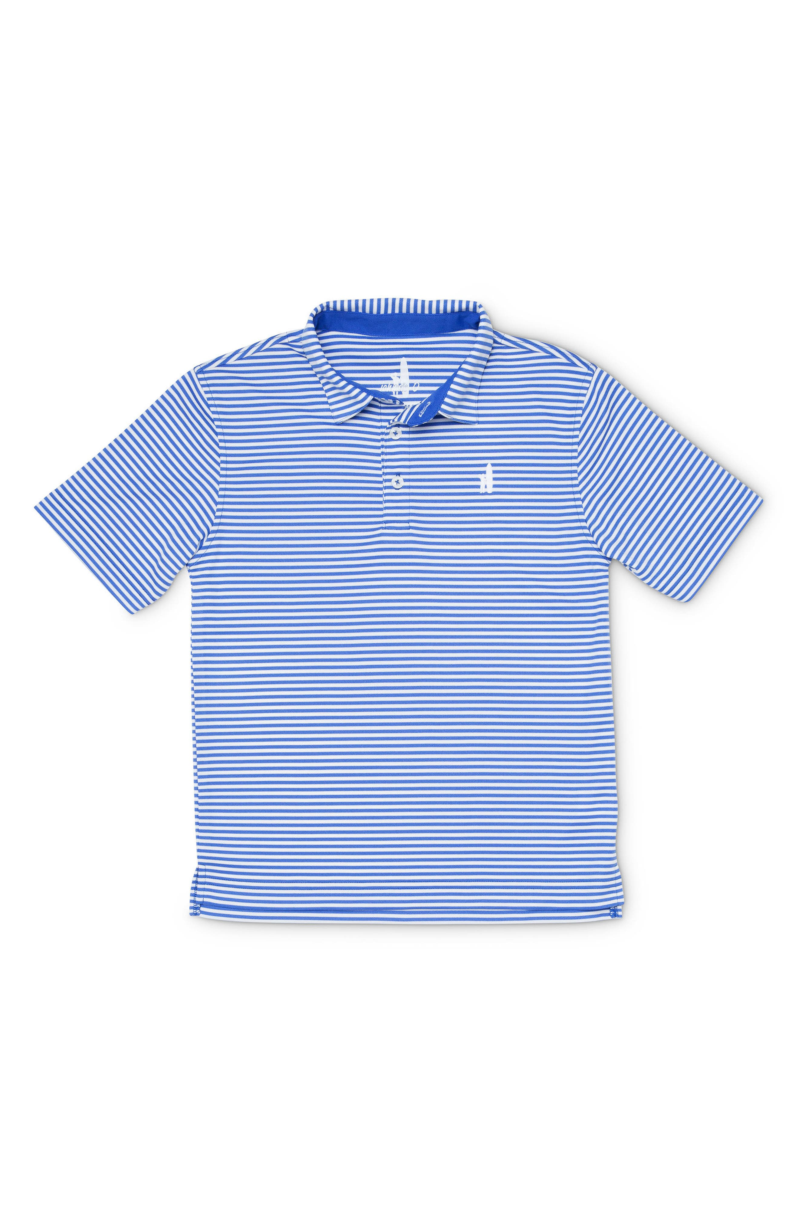 Bunker Striped Polo,                         Main,                         color, ROYAL