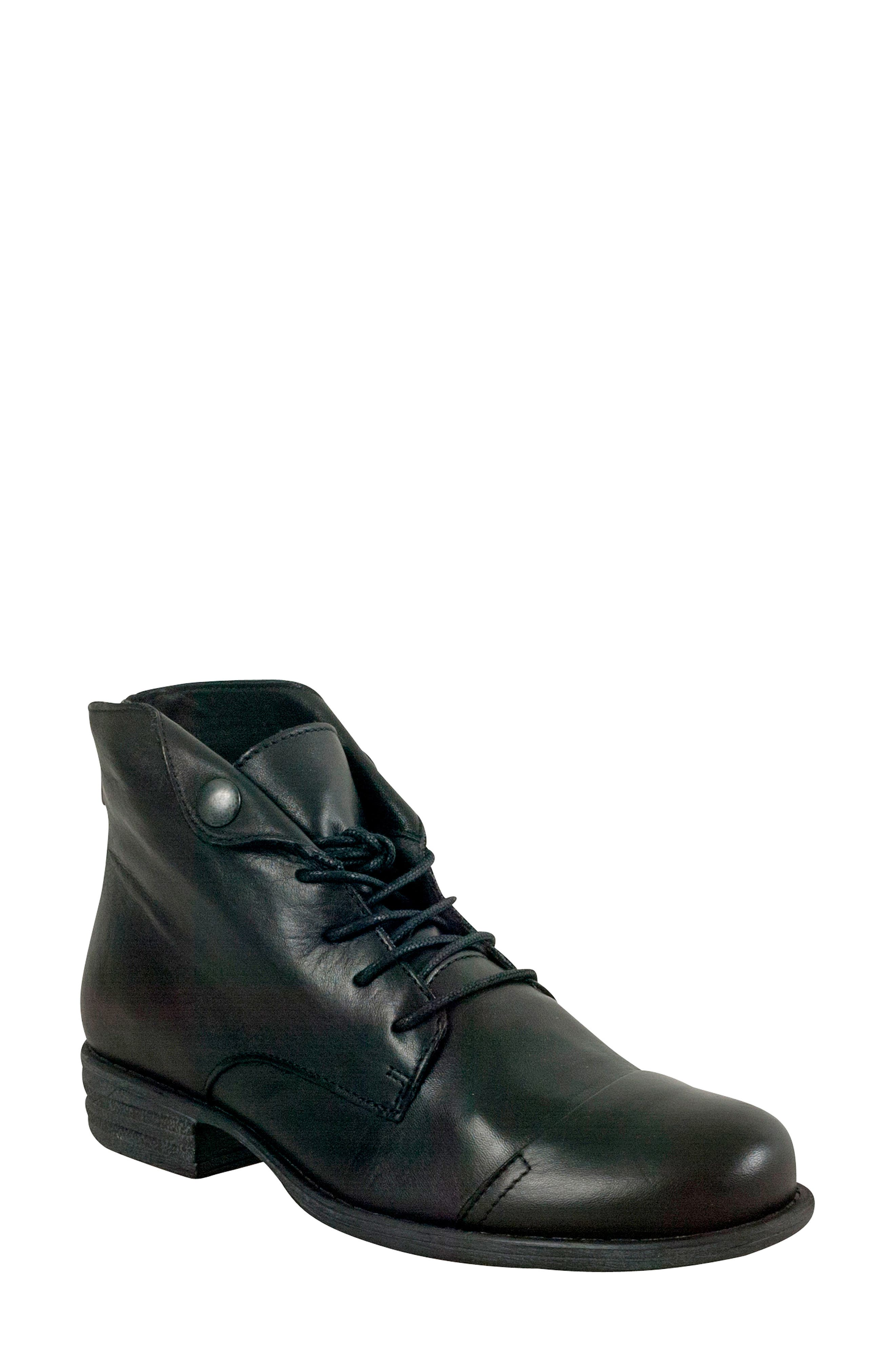 Lennox Lace-Up Bootie,                             Main thumbnail 1, color,                             001