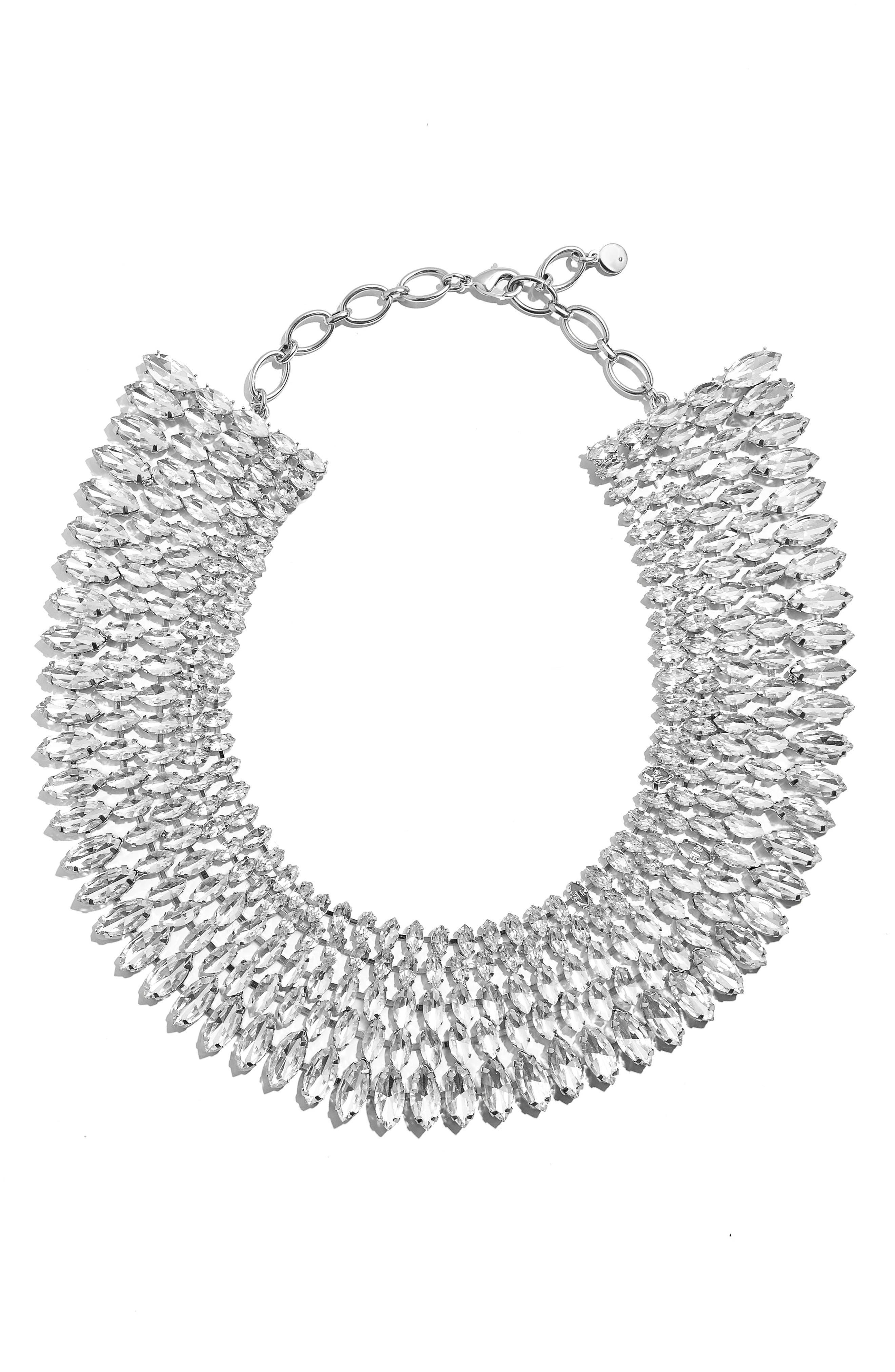 Anatalia Crystal Collar Necklace, Main, color, CLEAR