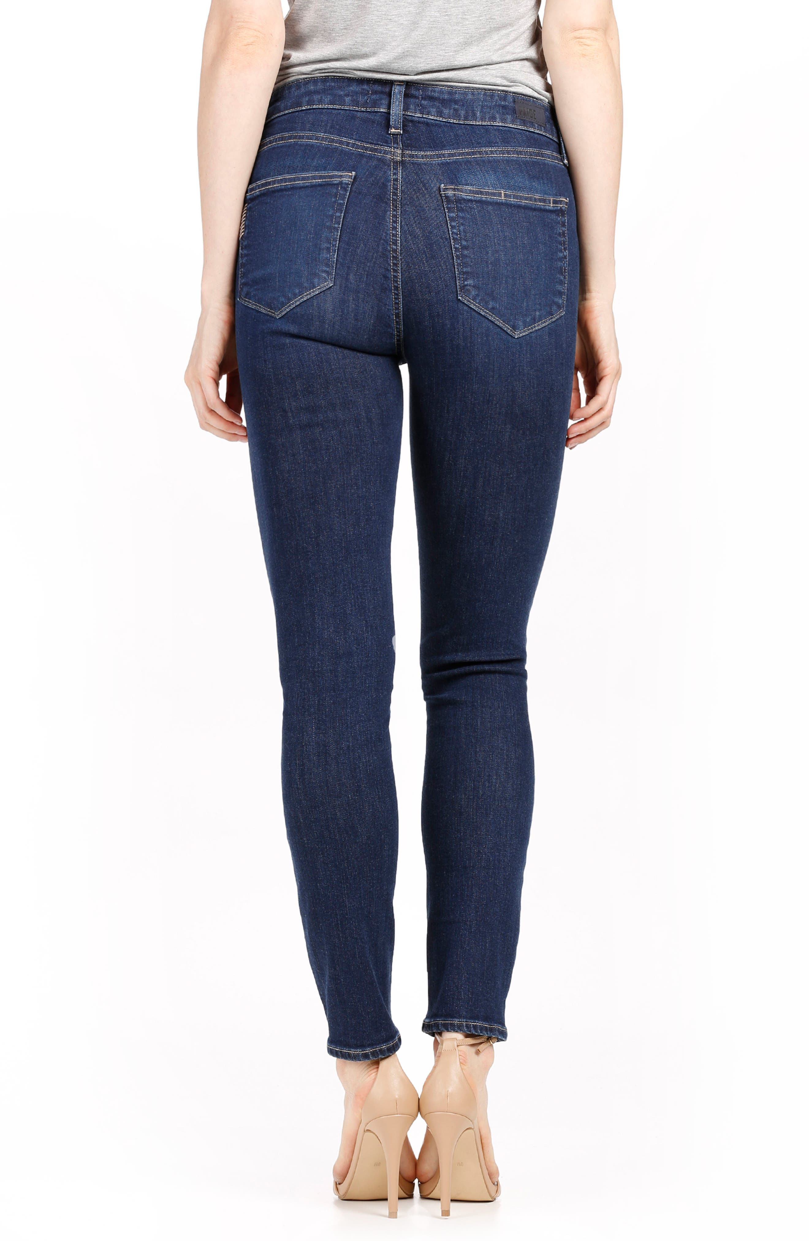 Hoxton High Waist Ankle Skinny Jeans,                             Alternate thumbnail 2, color,                             400
