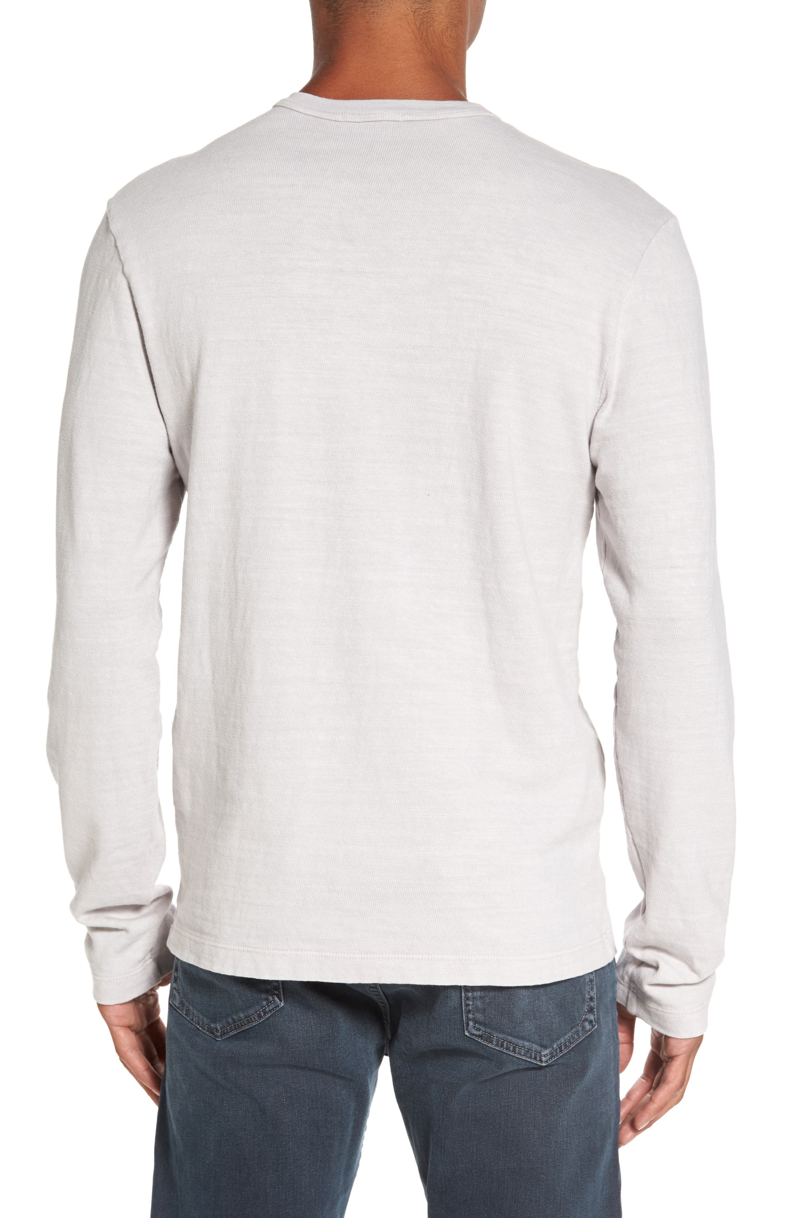 Long Sleeve Henley T-Shirt,                             Alternate thumbnail 4, color,