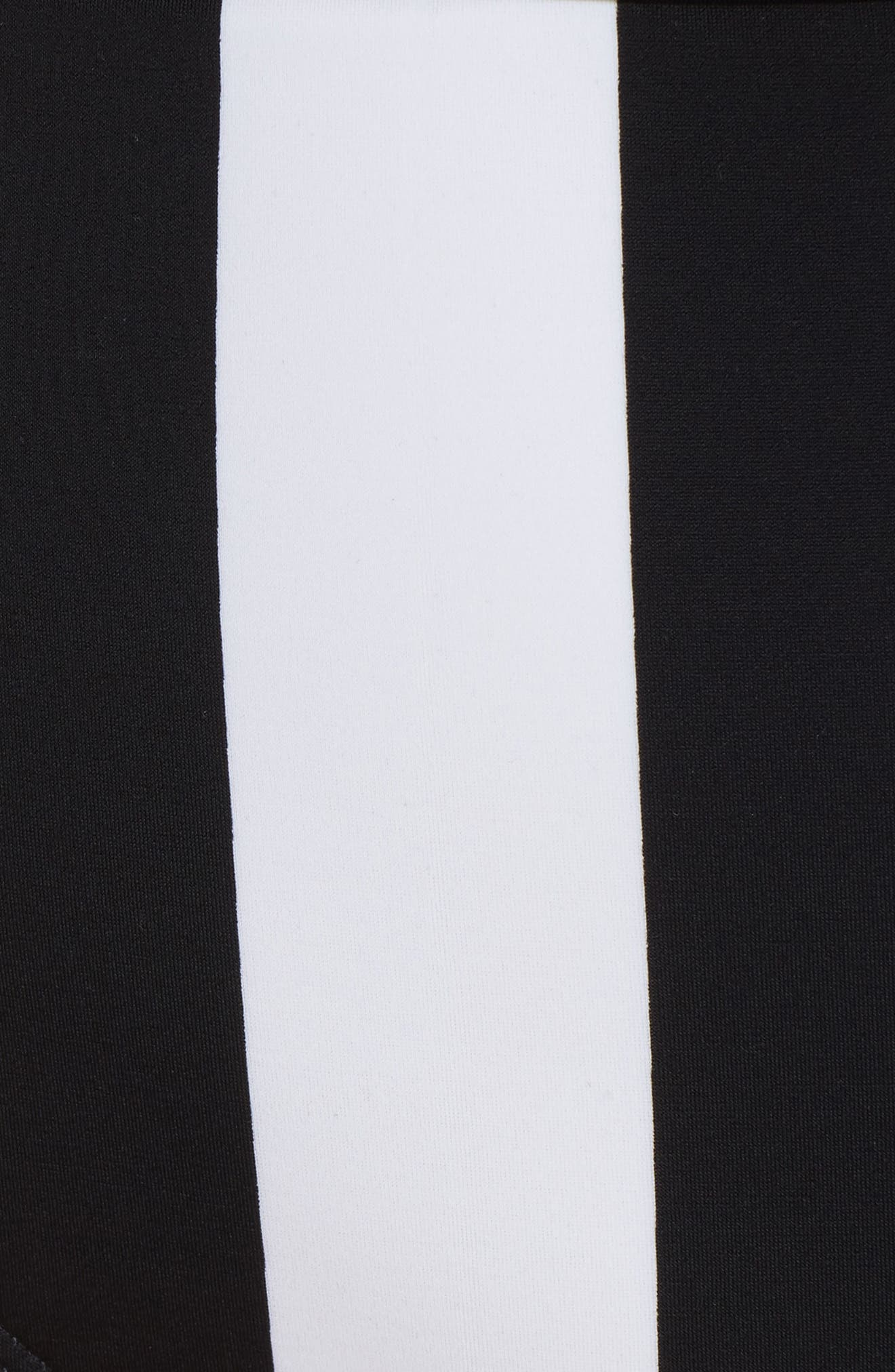 TED BAKER LONDON,                             Monochrome Stripe Underwire Bikini Top,                             Alternate thumbnail 6, color,                             001