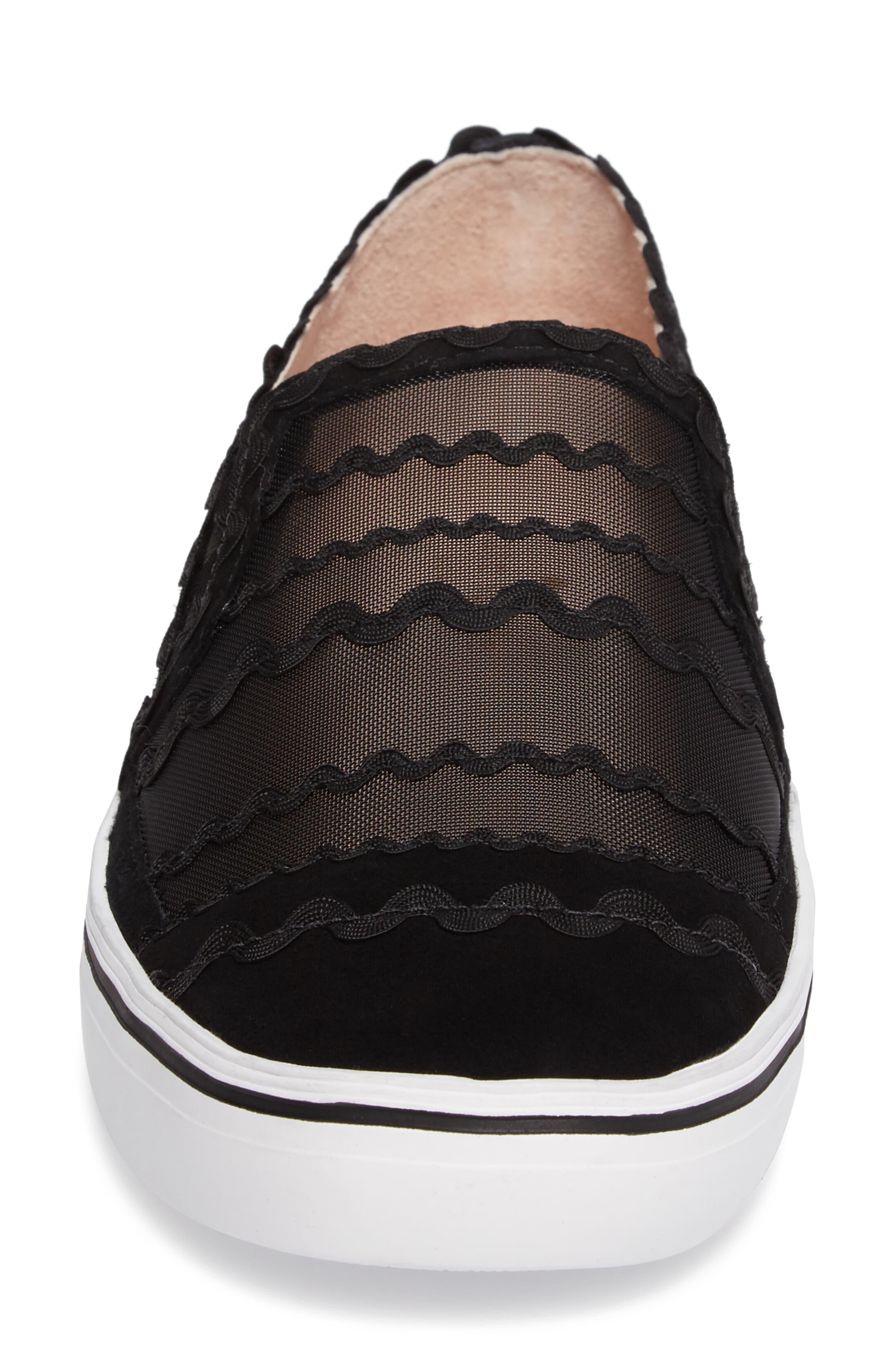 senza slip-on sneaker,                             Alternate thumbnail 4, color,                             001