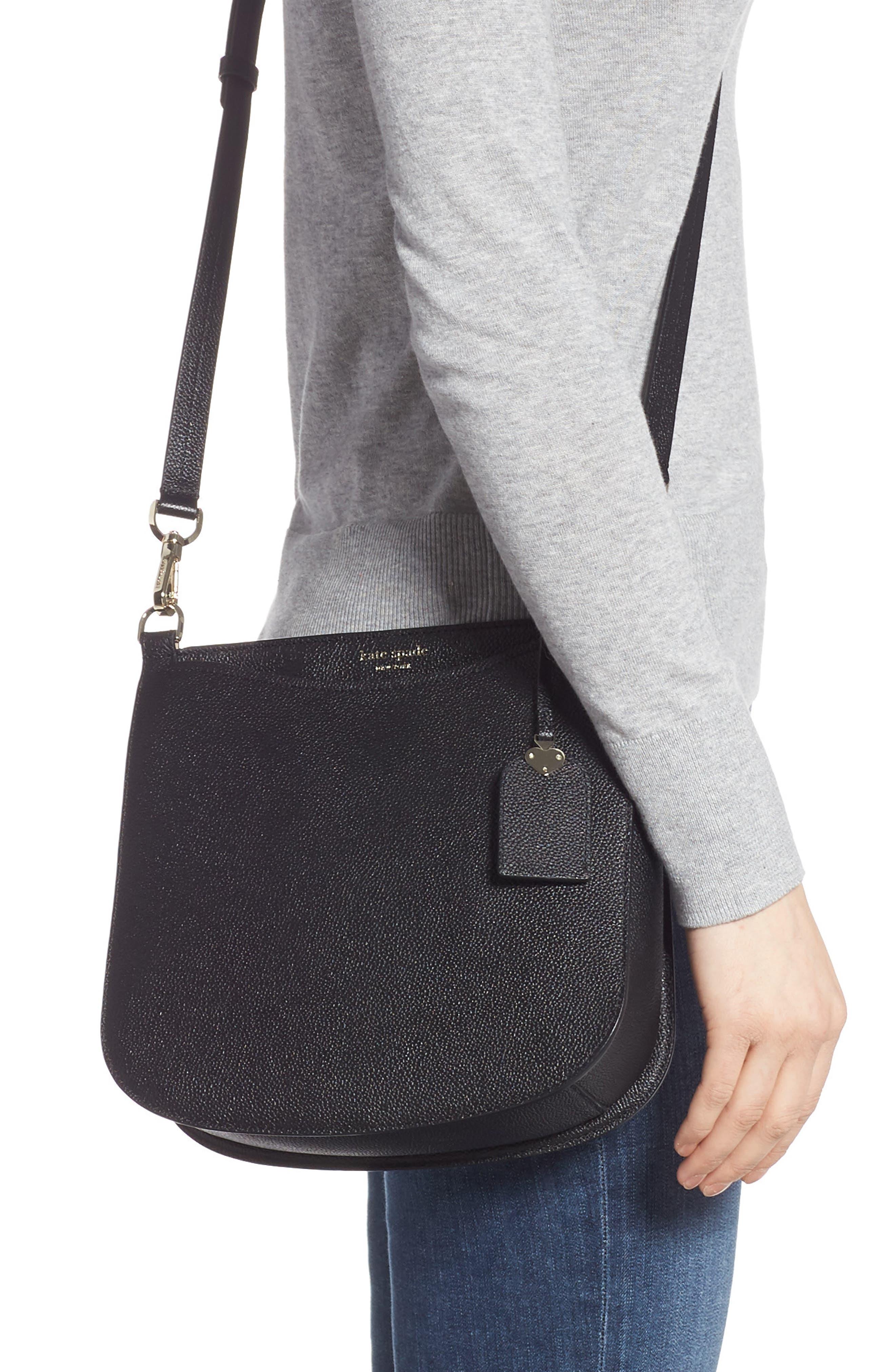 KATE SPADE NEW YORK,                             margaux large crossbody bag,                             Alternate thumbnail 2, color,                             BLACK