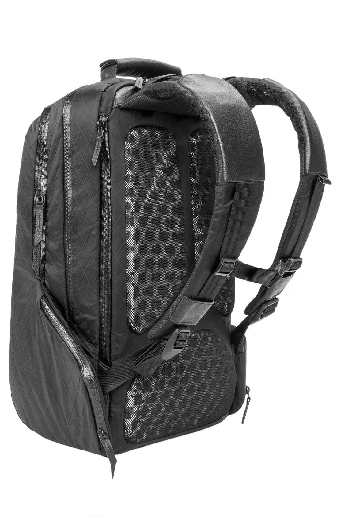 'Icon' Diamond Wire Backpack,                             Alternate thumbnail 3, color,                             BLACK