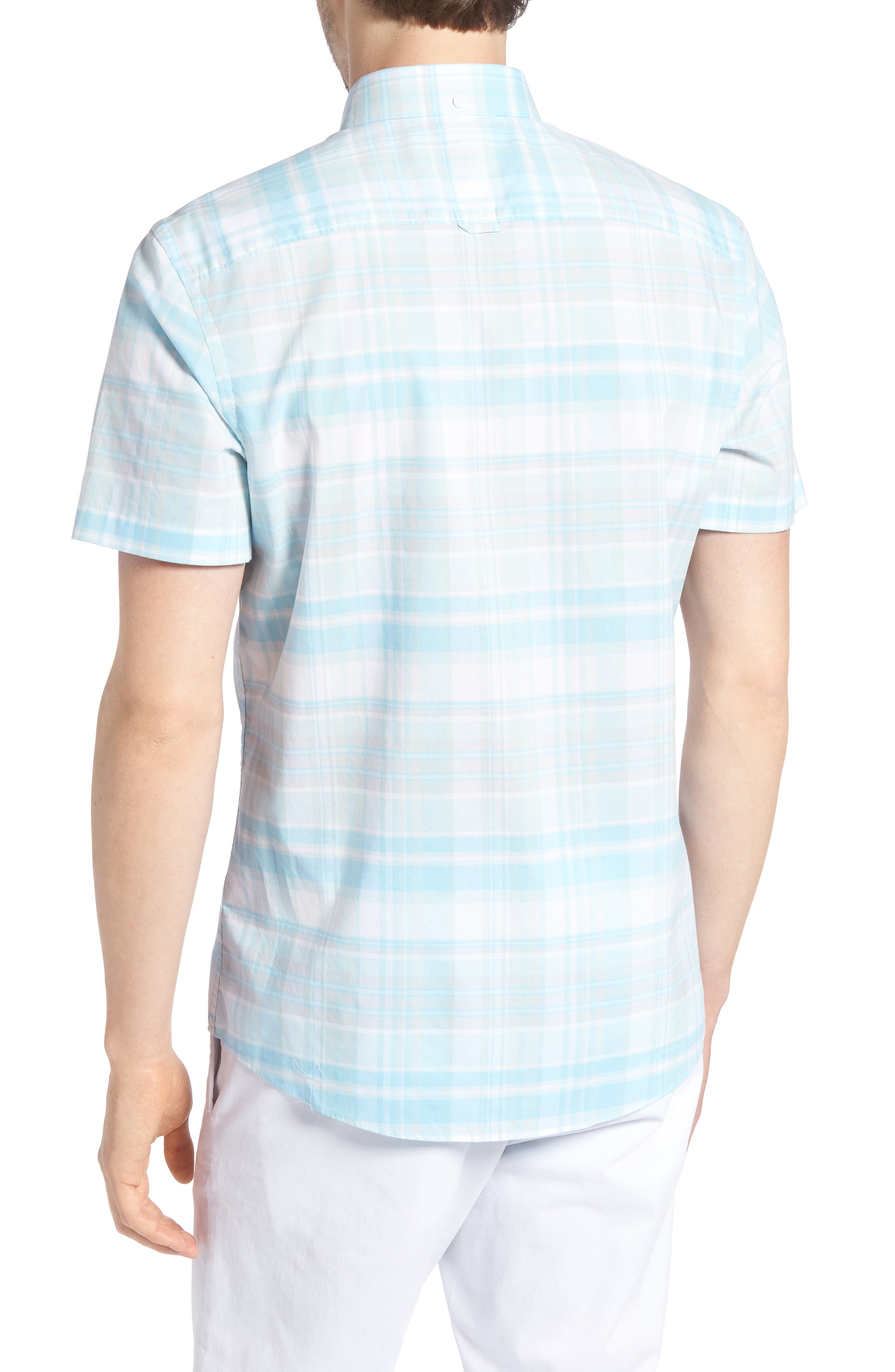 Trim Fit Plaid Sport Shirt,                             Alternate thumbnail 2, color,                             450