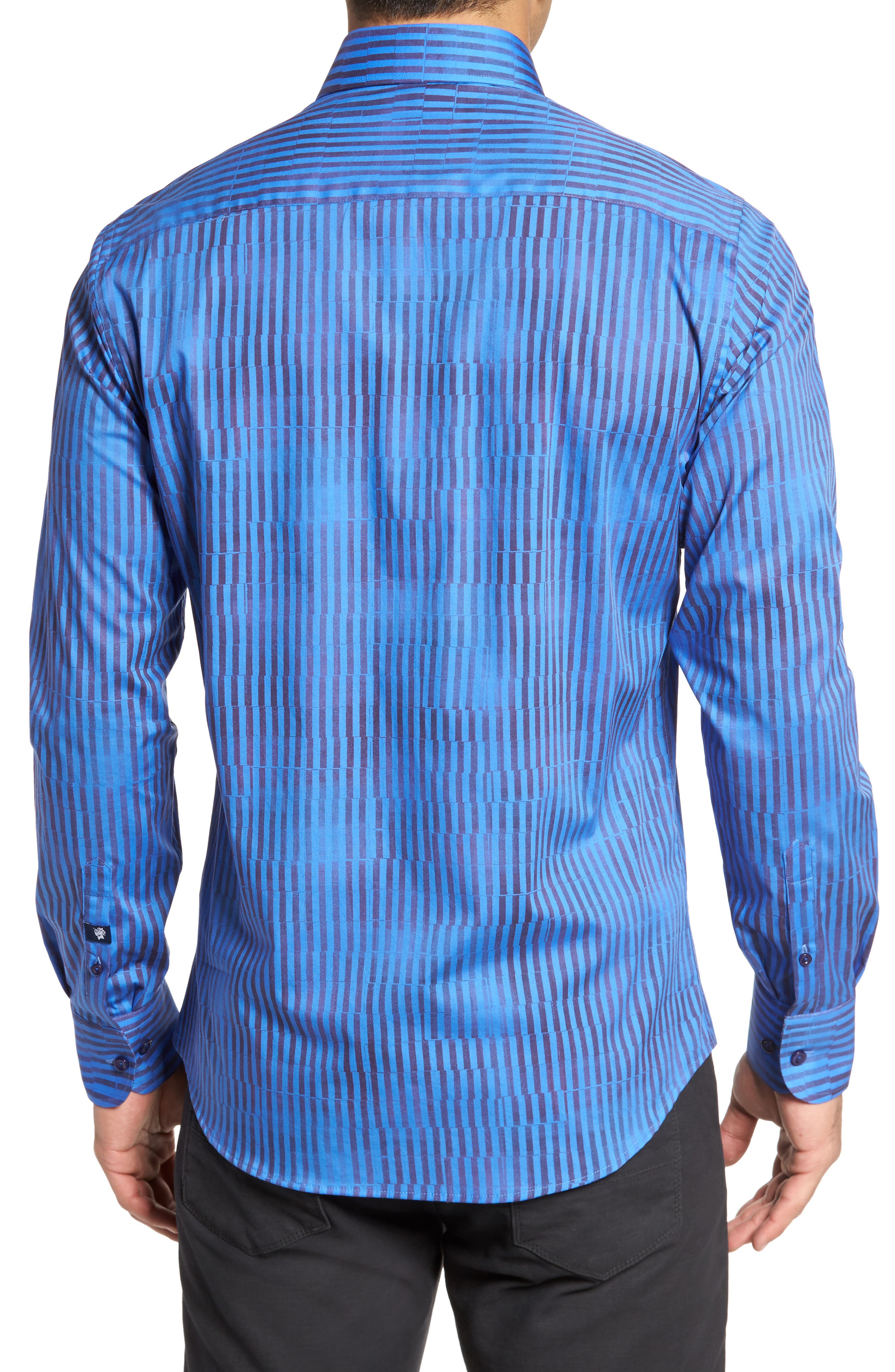 Bold FX Stripe Print Sport Shirt,                             Alternate thumbnail 2, color,                             430