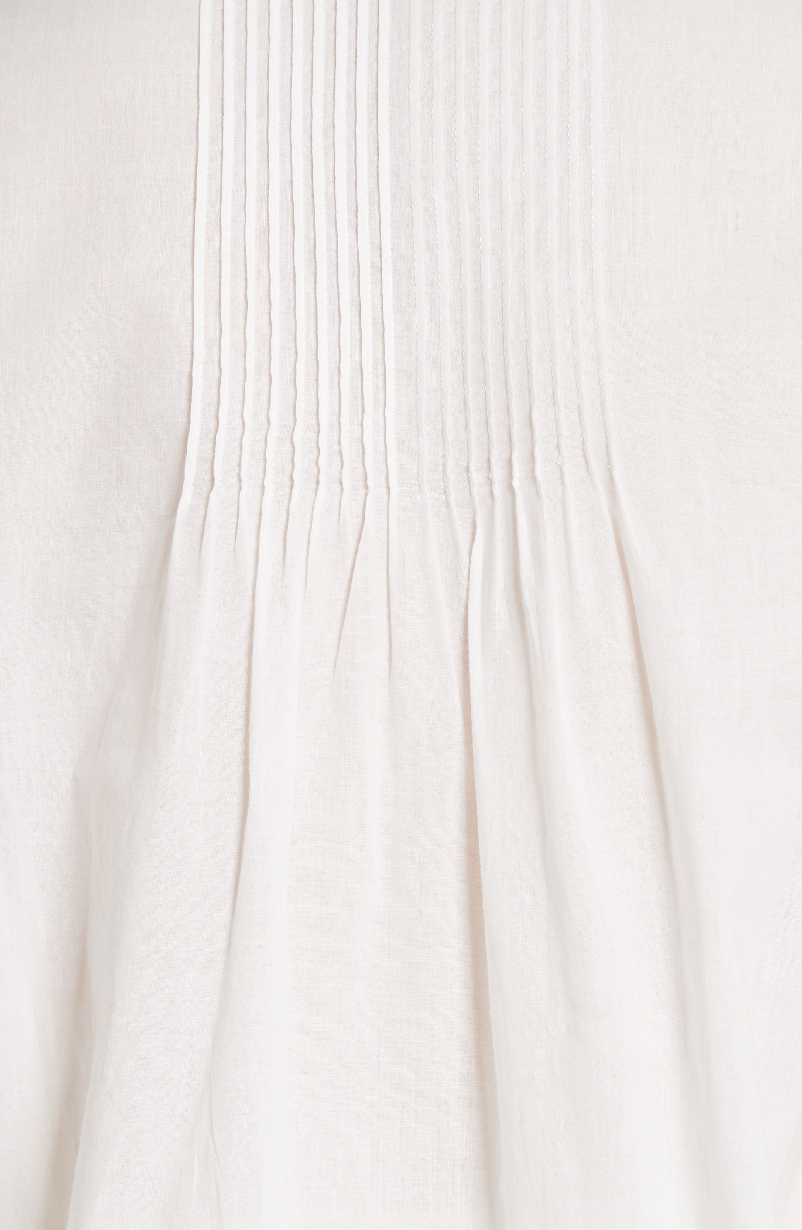 Mili Eyelet Sleeve Top,                             Alternate thumbnail 5, color,                             100
