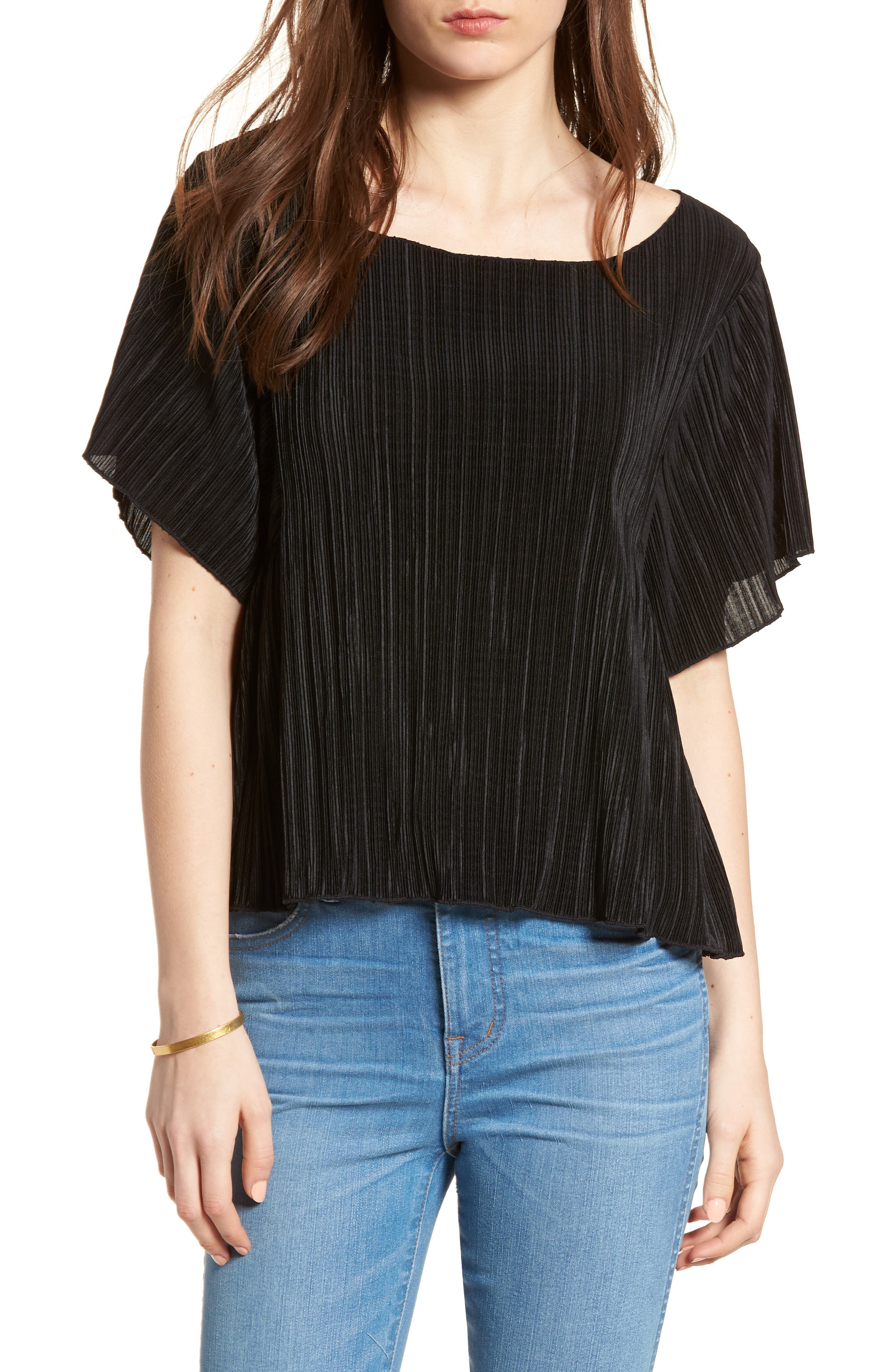 Micropleat Top,                             Main thumbnail 1, color,