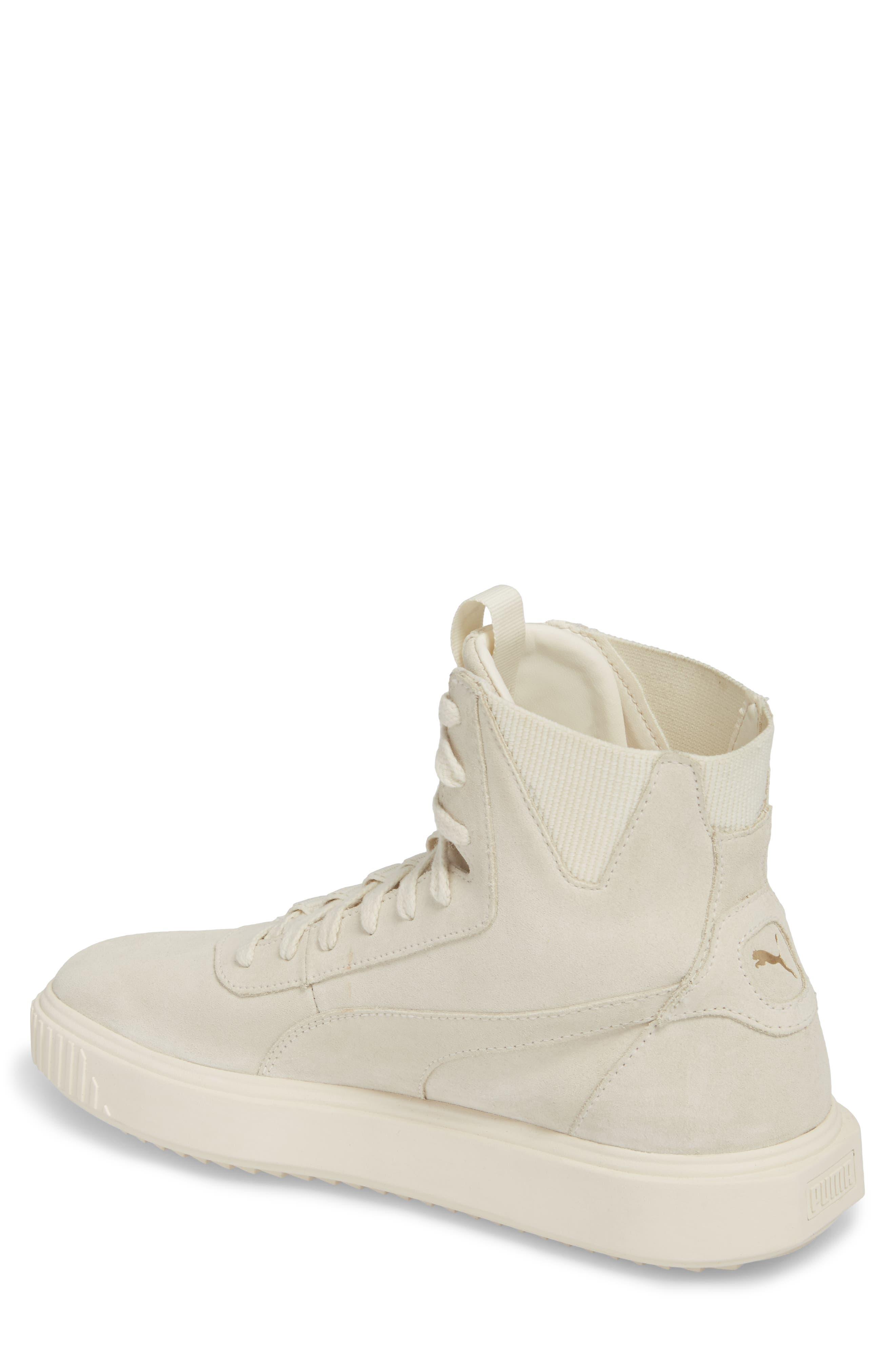 Breaker High Top Sneaker,                             Alternate thumbnail 2, color,                             WHITE